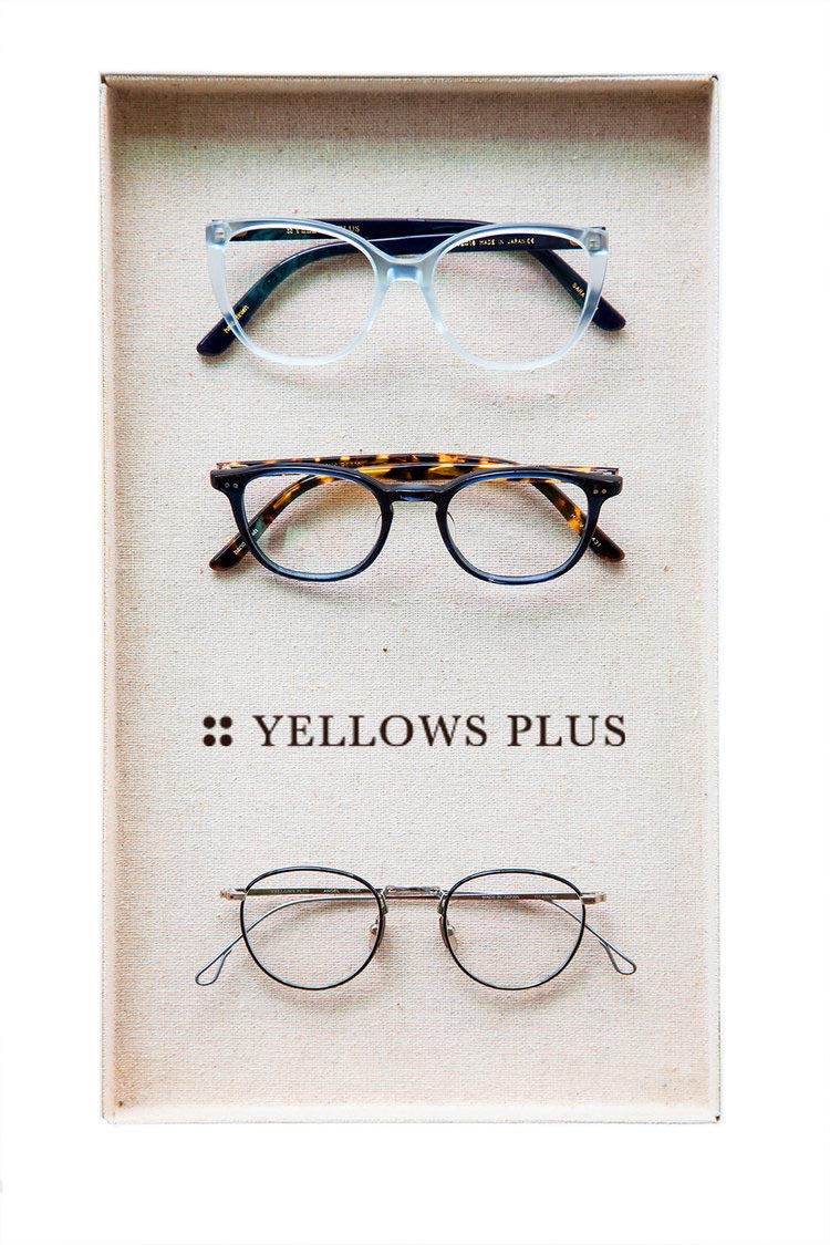 yellows plus frames in a tray