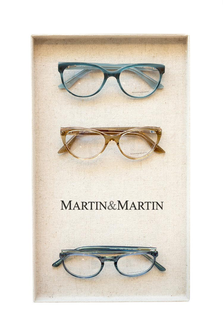 martin and martin frames in a tray