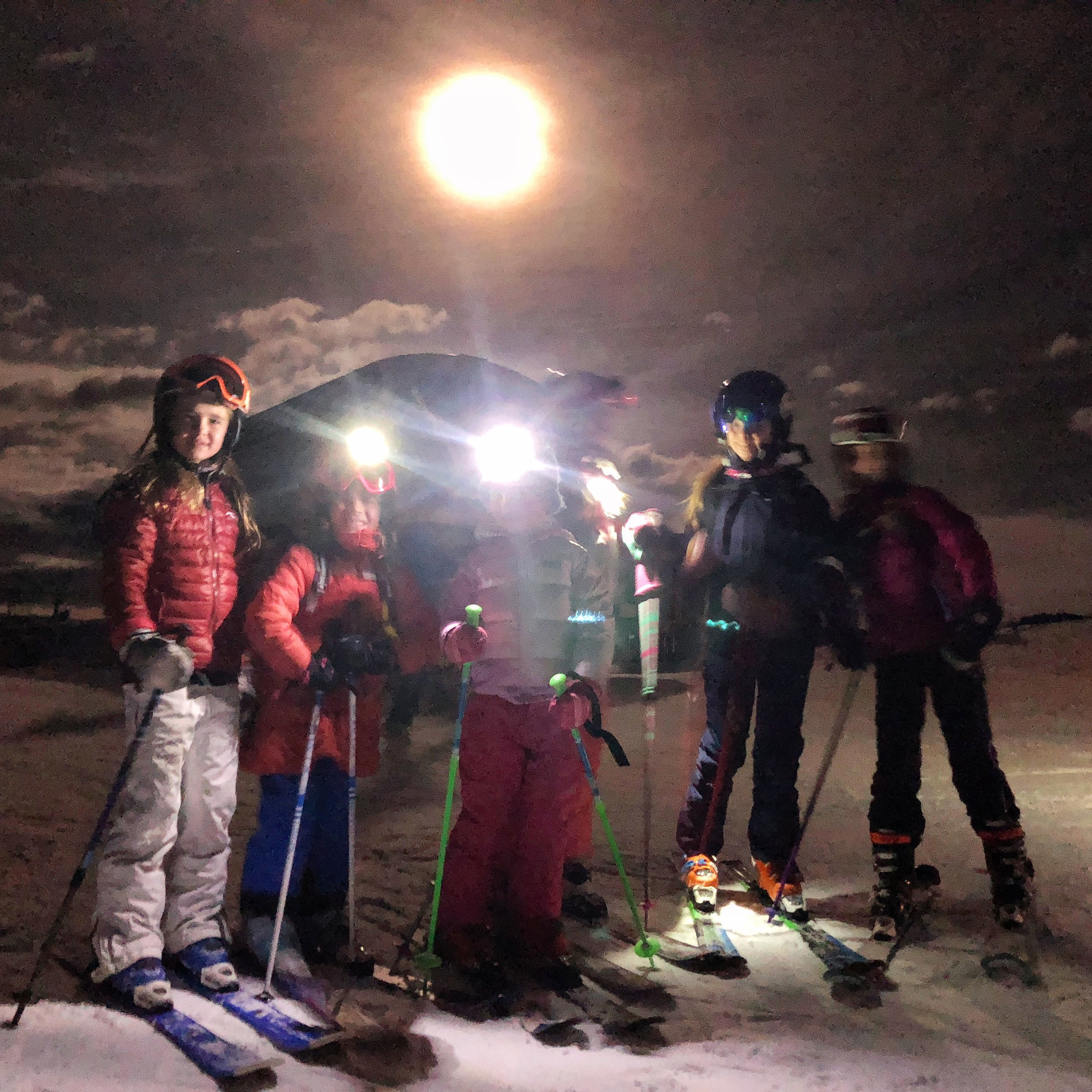 Full moon ski on Tiehack (Buttermilk).