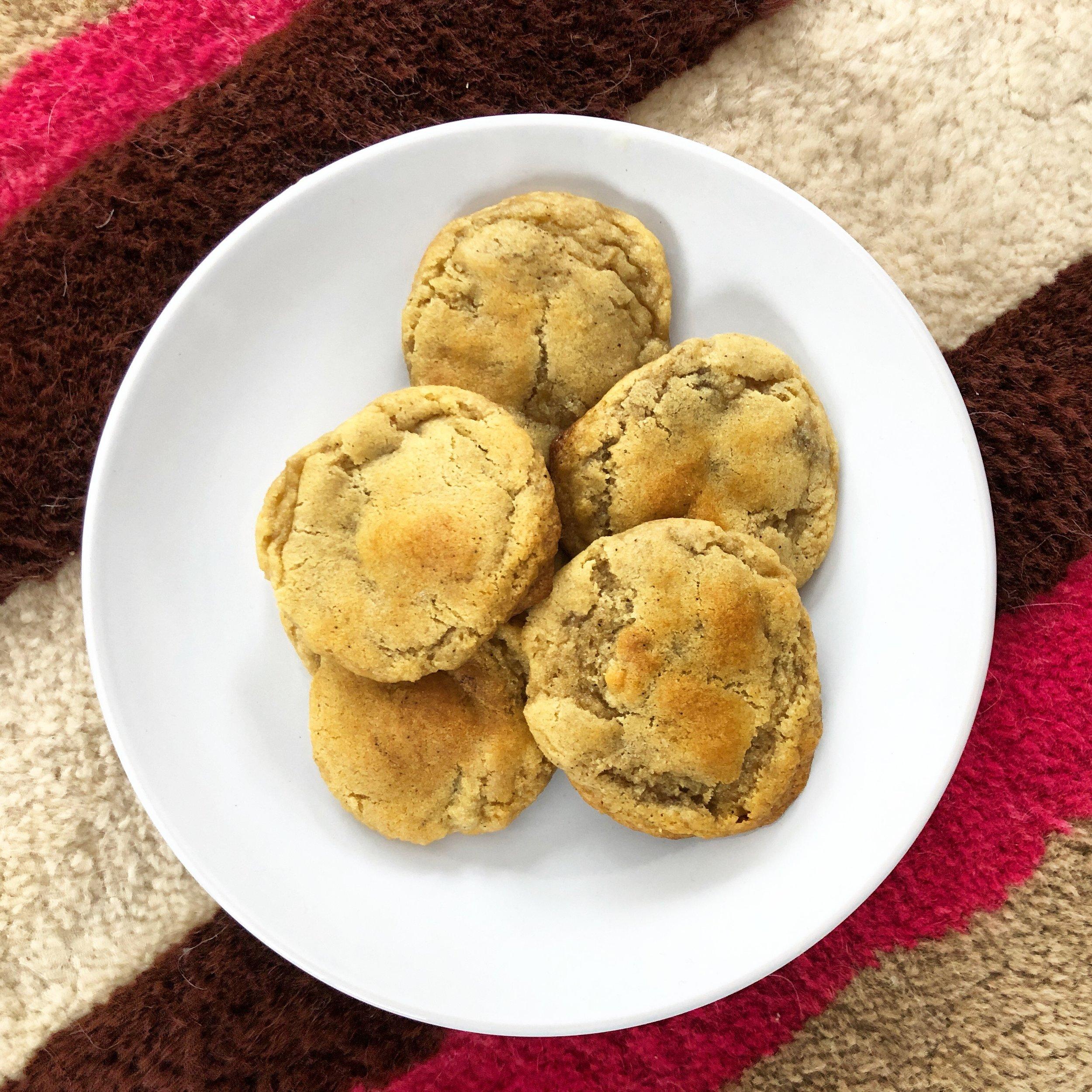 Warm sea-salt-espresso-chocolate-chip cookies upon arrival!
