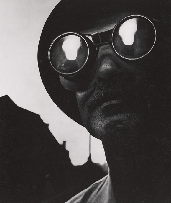 """Steelworker with Goggles,"" 1955, by W. Eugene Smith ©The Heirs of W. Eugene Smith"
