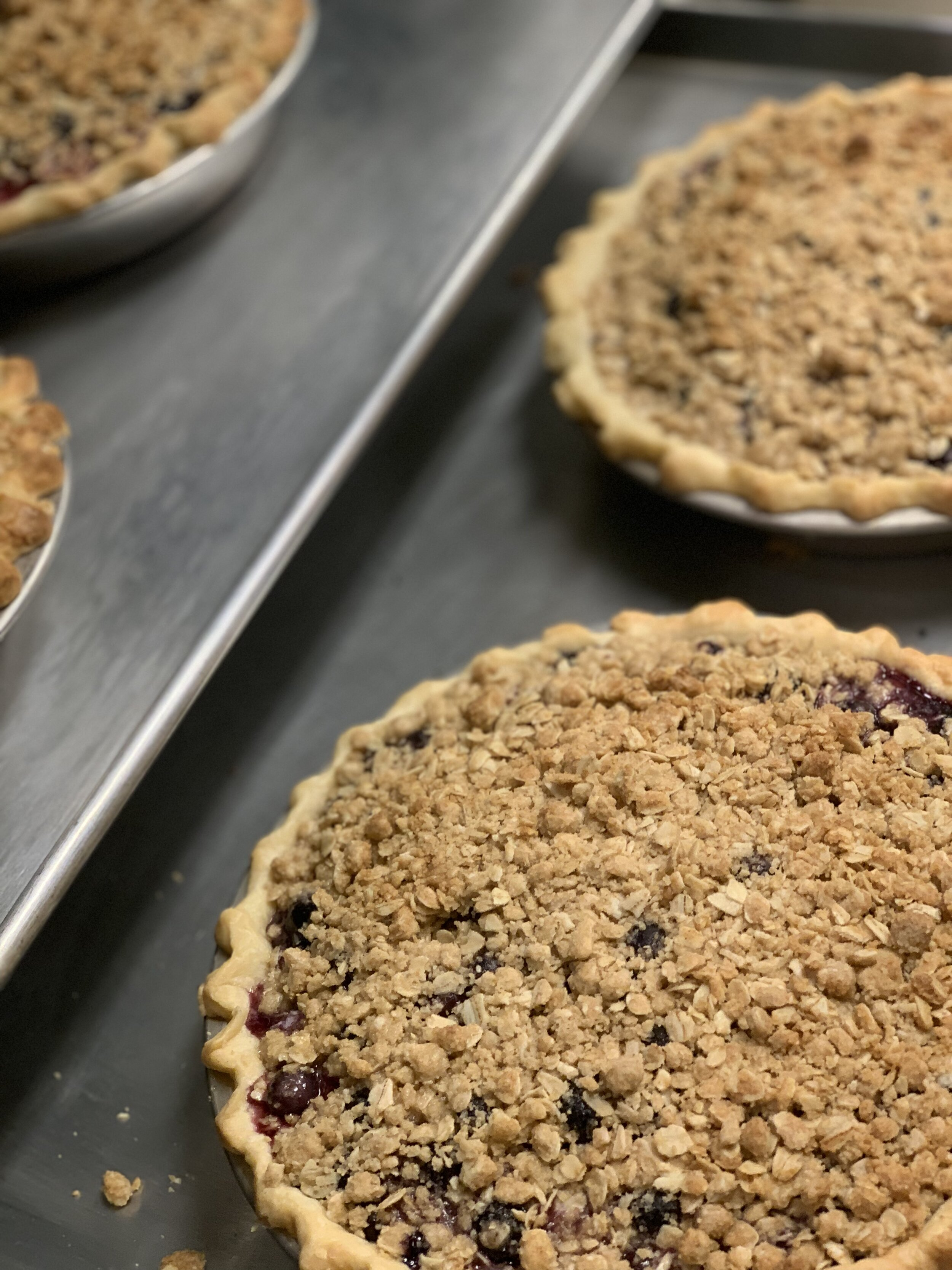 Blueberry Crumble Pies