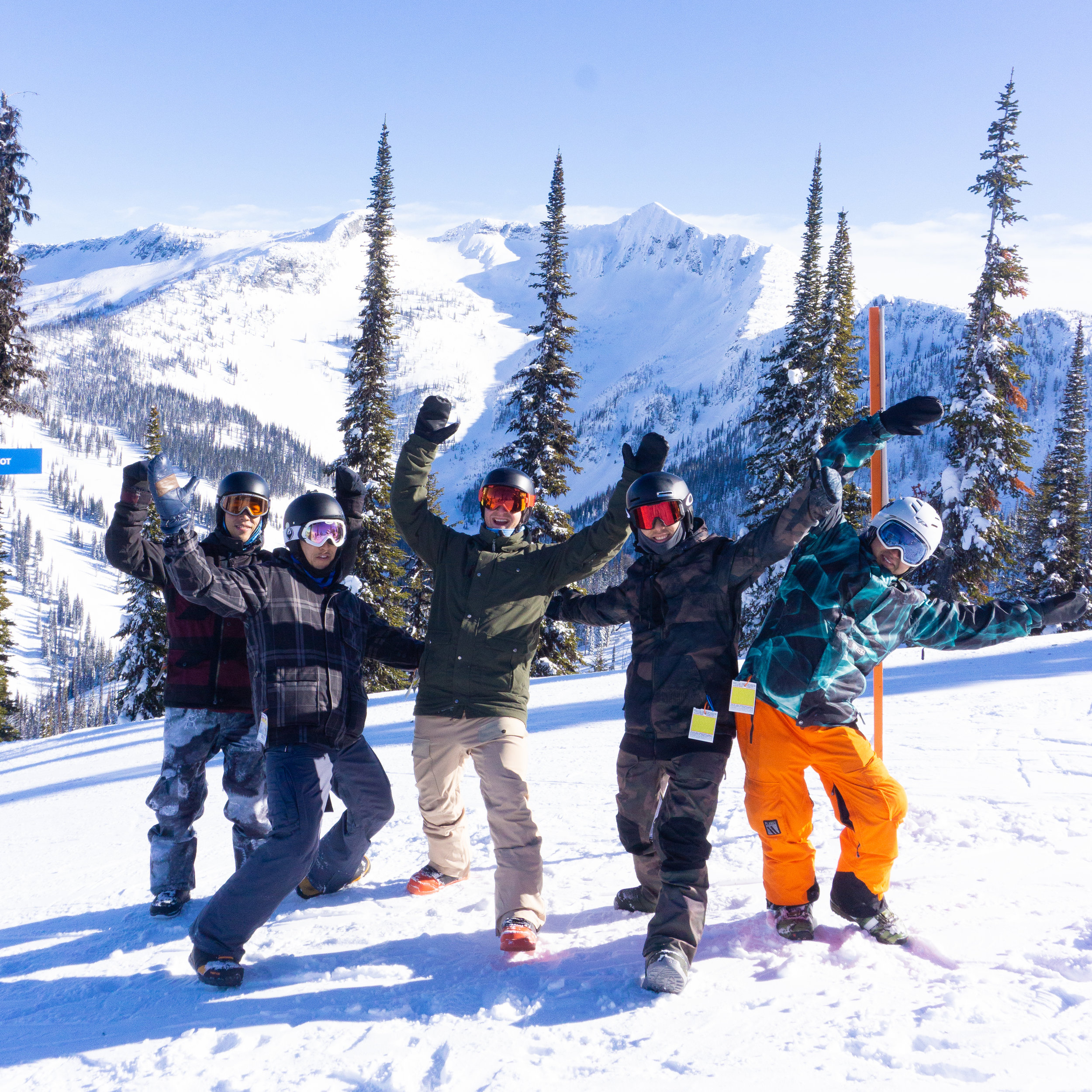 Whitewater Resort, MM Guests on Powder Highway trip