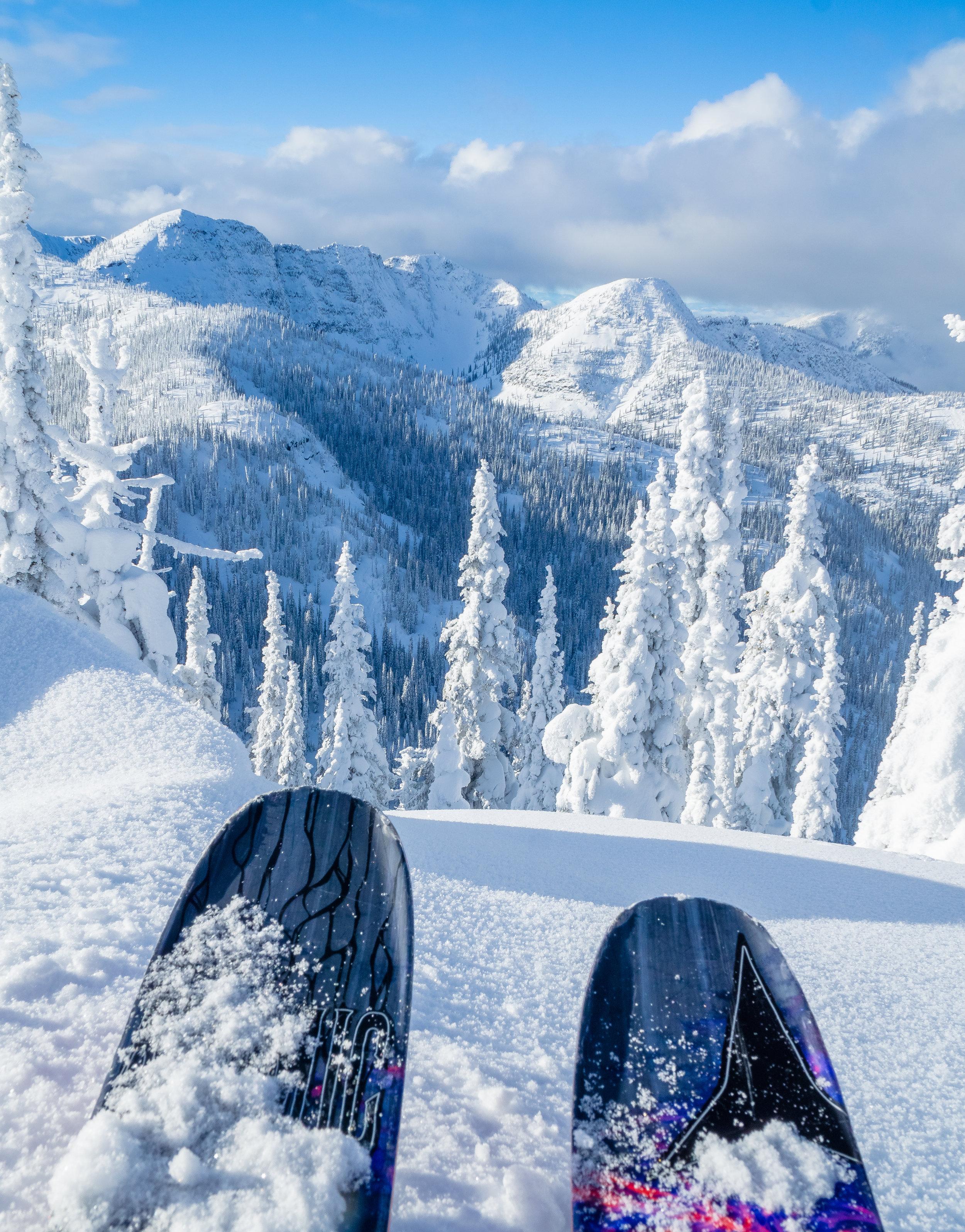 POV  Skiing in Nelson B.C.