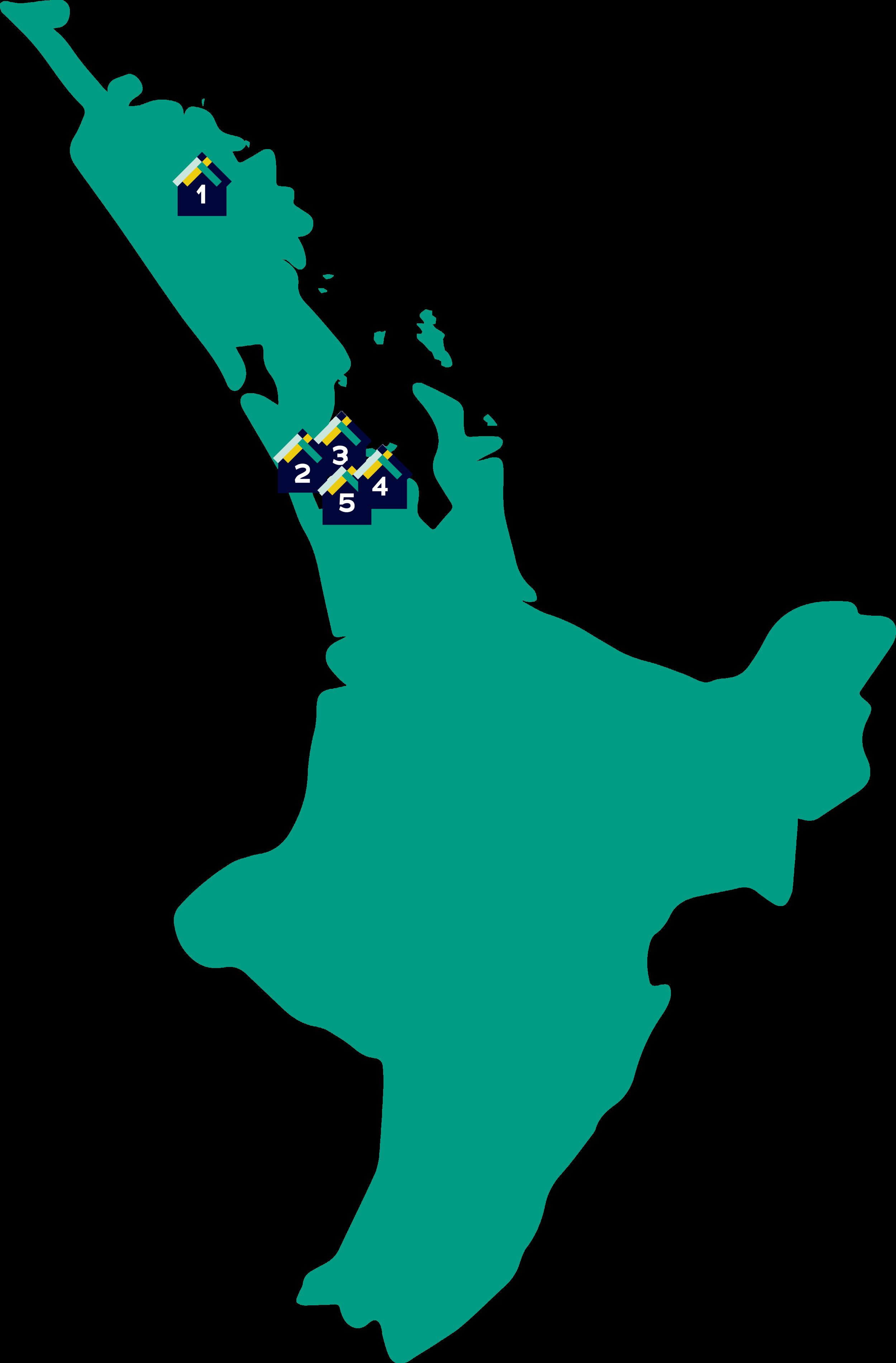 PARS North Island Map