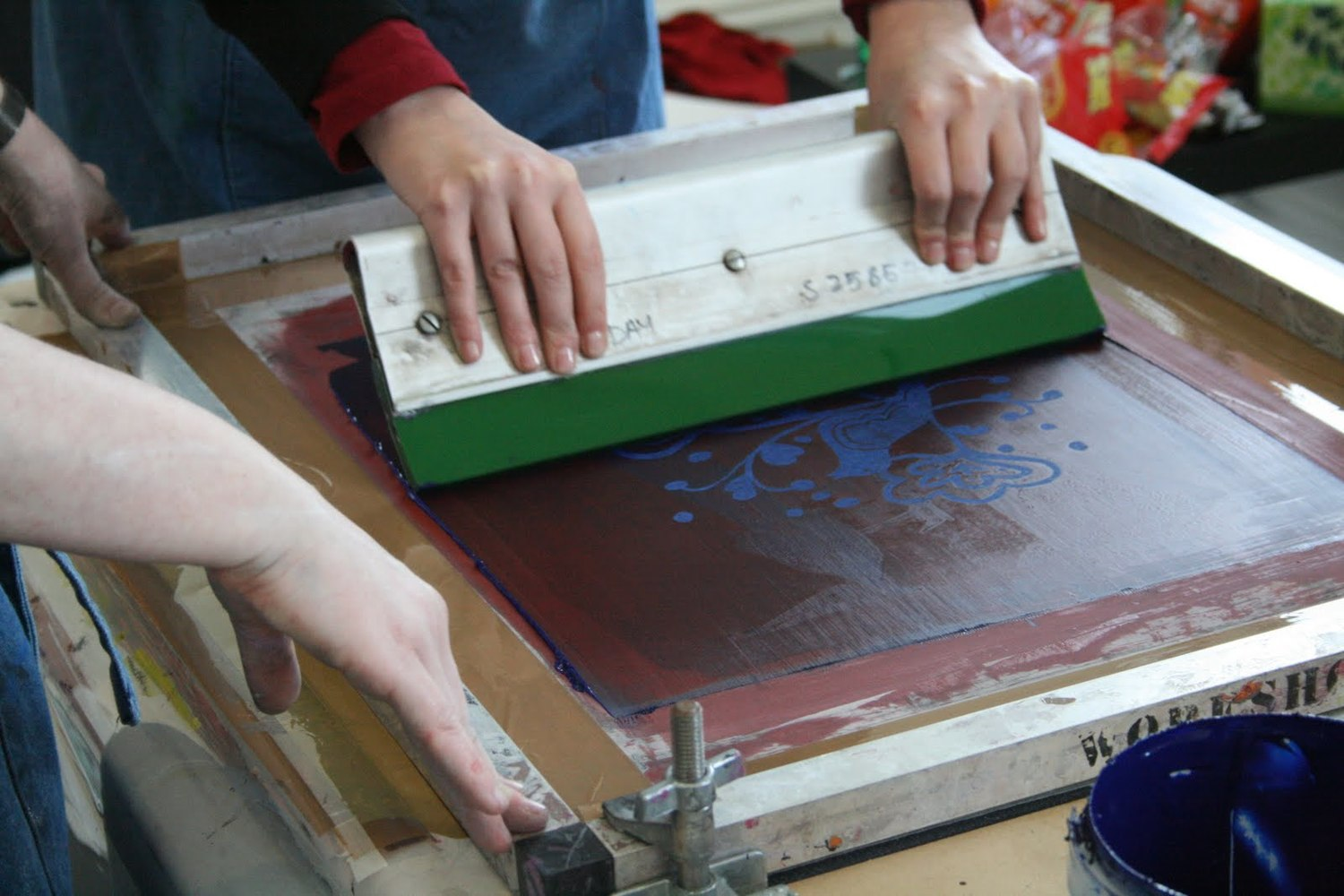 Silk Screening Art Activity!
