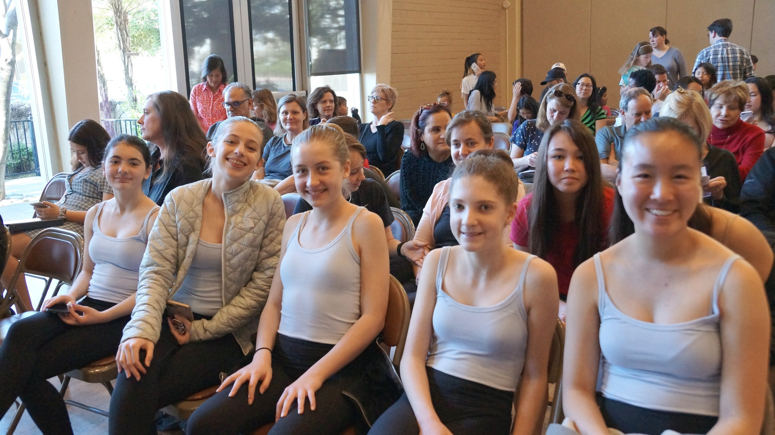 Sophie Eng, Caroline Collins, Sophia Hiestant, Maya Kumar, Cece Johnson, Maggie Sullivan, and Klaire Cherryhomes . Dance .