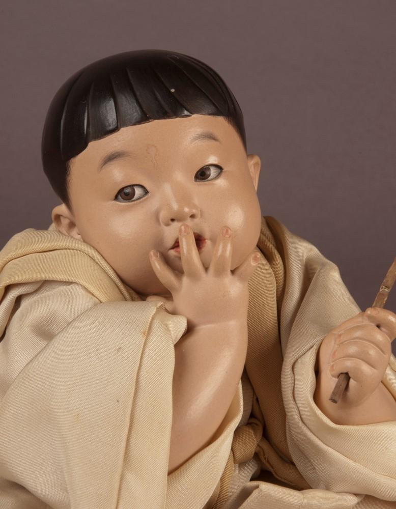 Goyo Art Doll via  Alan Pate Antique Japanese Dolls
