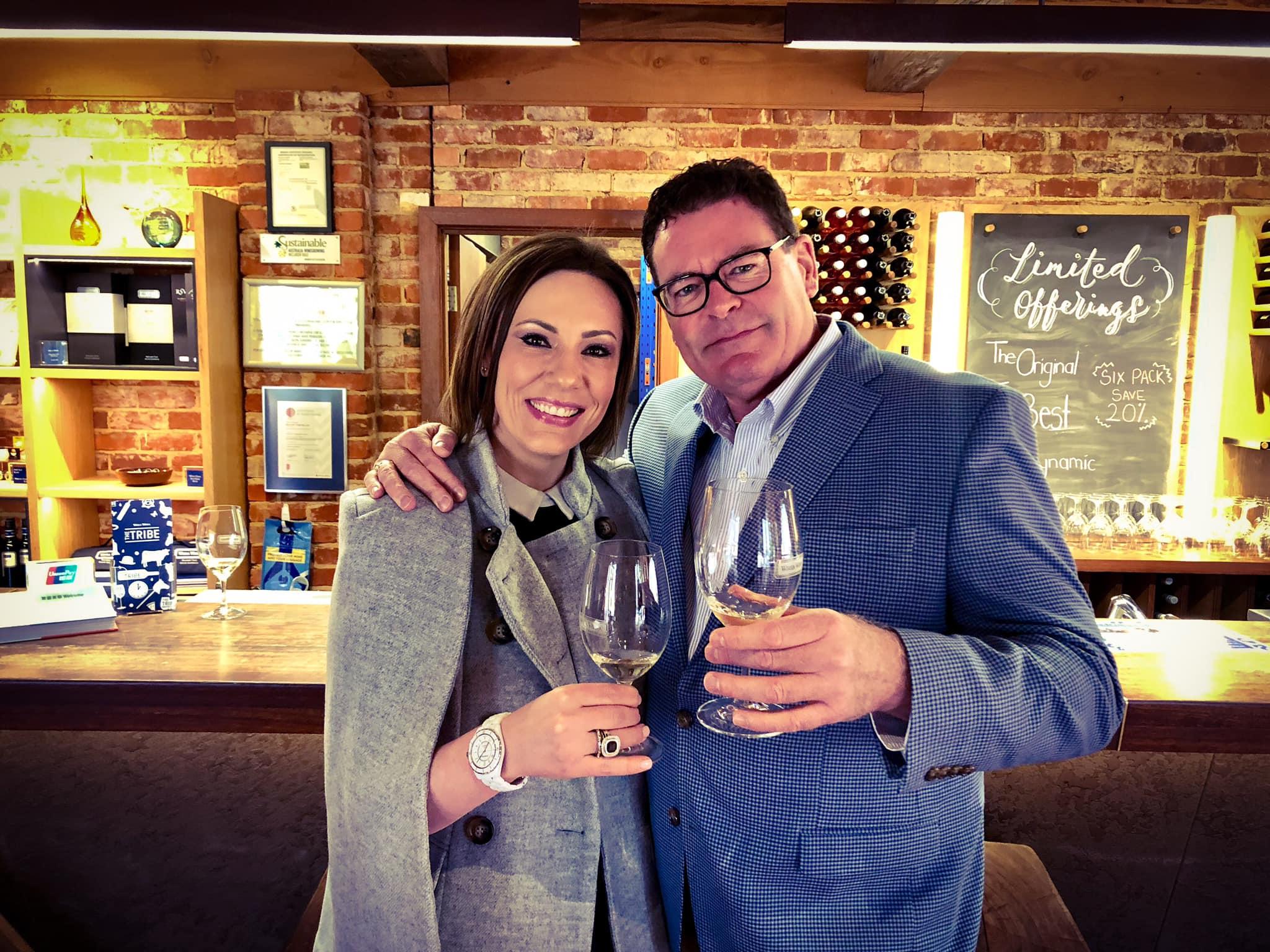 Rachel Hoffman and David Robinson Wine Tour in Australia Virtual Doll Convention.jpg