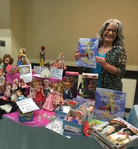VDC Ambassador Janet Snyder at local doll show.