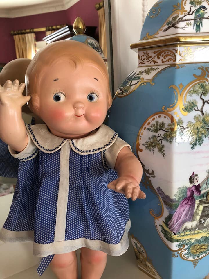 Composition Dolly Dingle Doll by American Character, via Billye Harris Collection