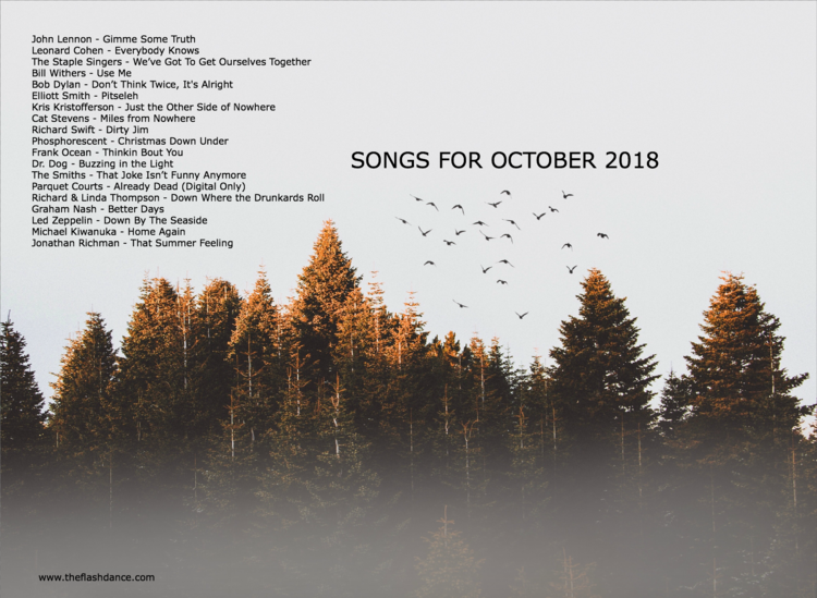 Songs For October 2018