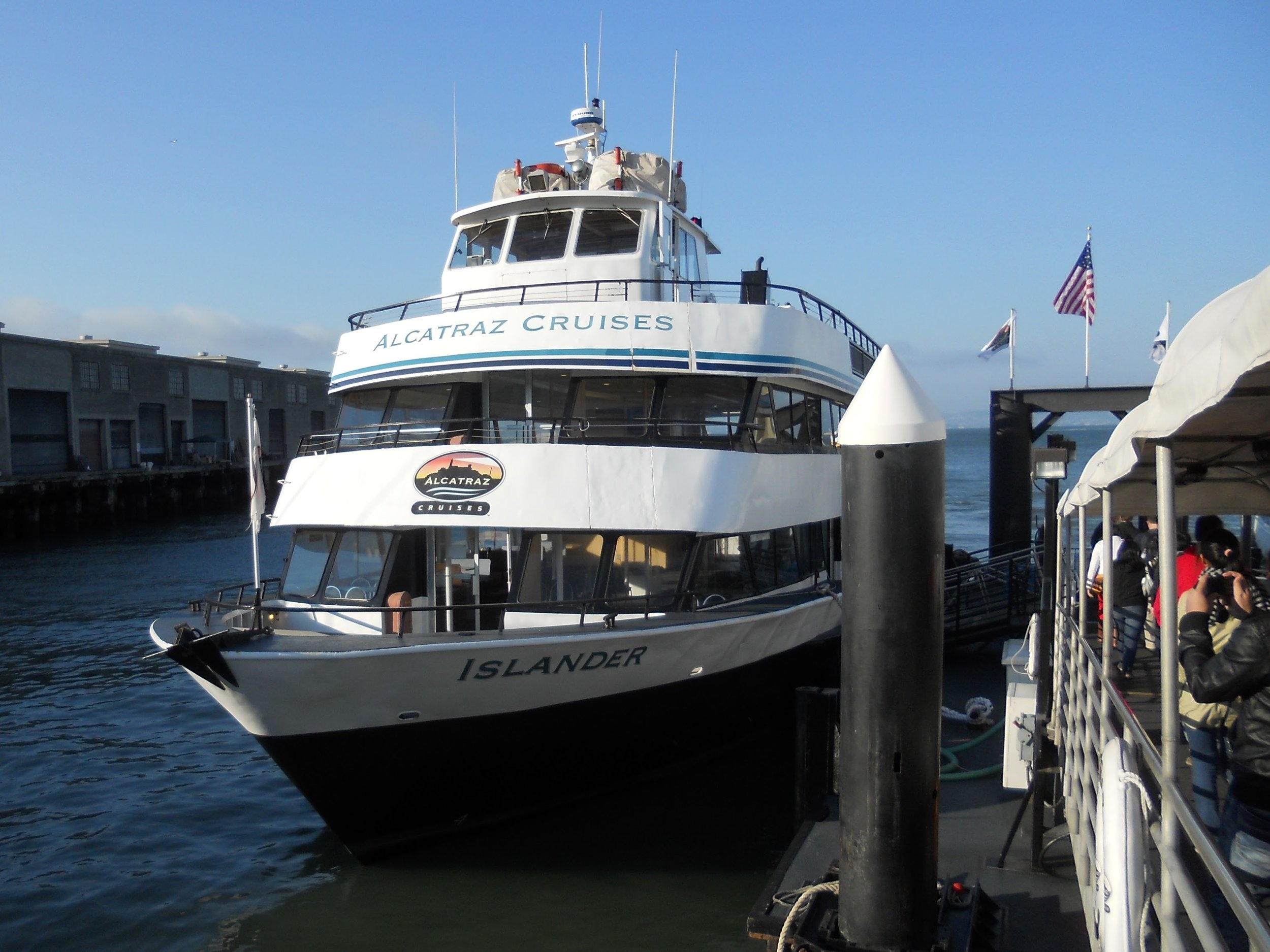 Alcatraz Cruises is the only sanctioned tour operator that docks at Alcatraz Island. There are several other operators that will bring you around the island, but won't dock