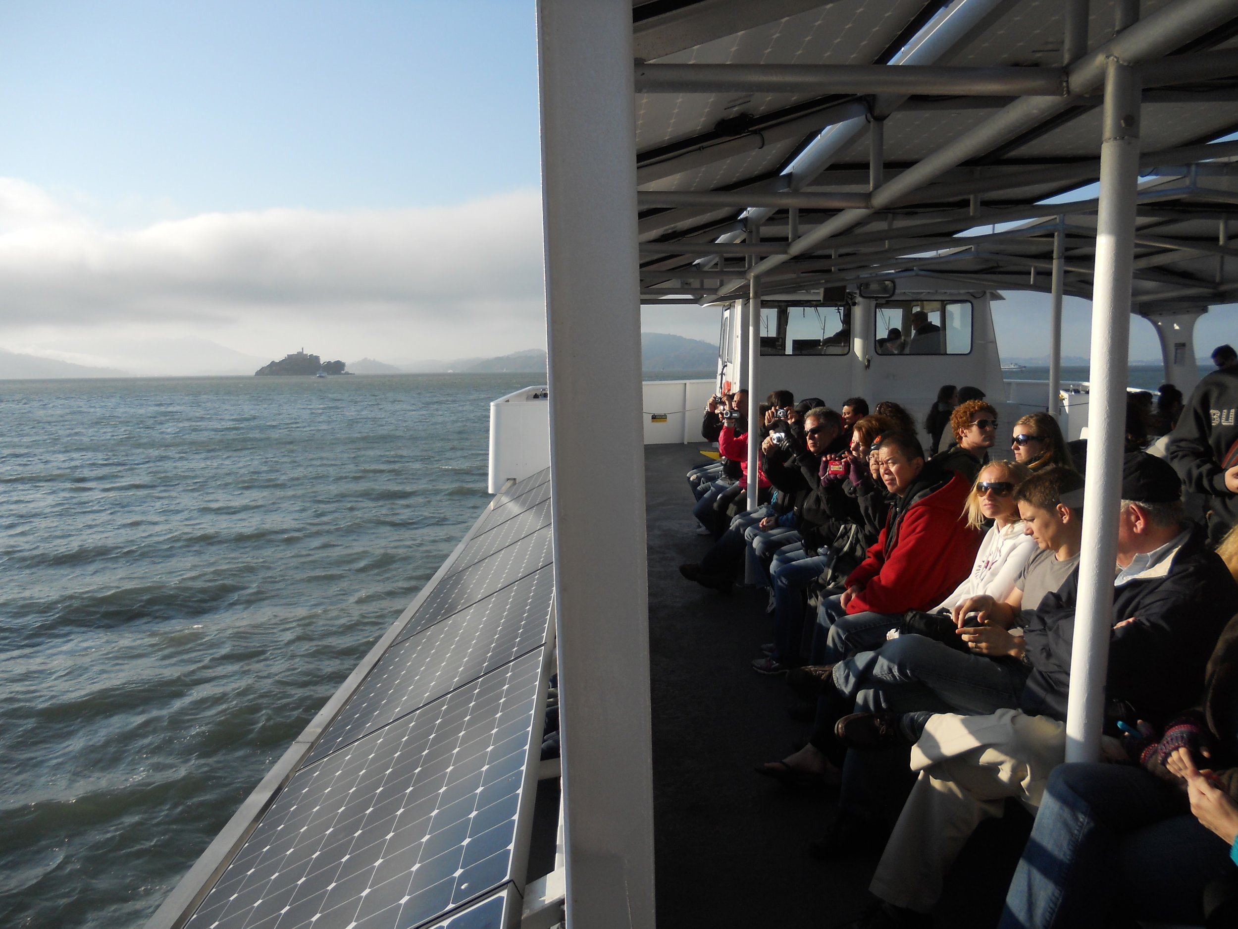 The transit time from Pier 33 to Alcatraz is approximately 20 minutes