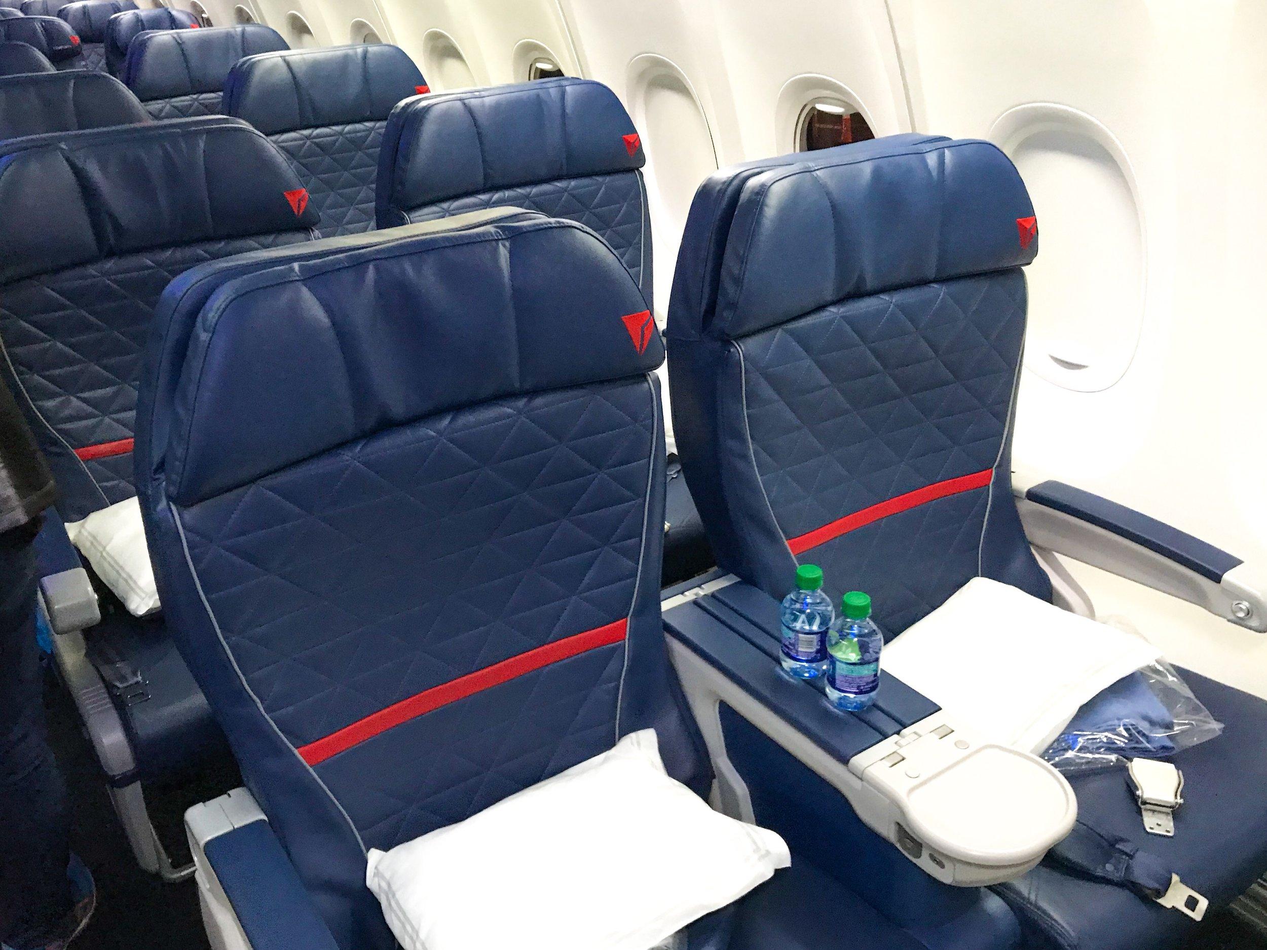 MODIFIED AIRCRAFT - First Class:16 SeatsDelta Comfort+:36 SeatsMain Cabin:108 Seats