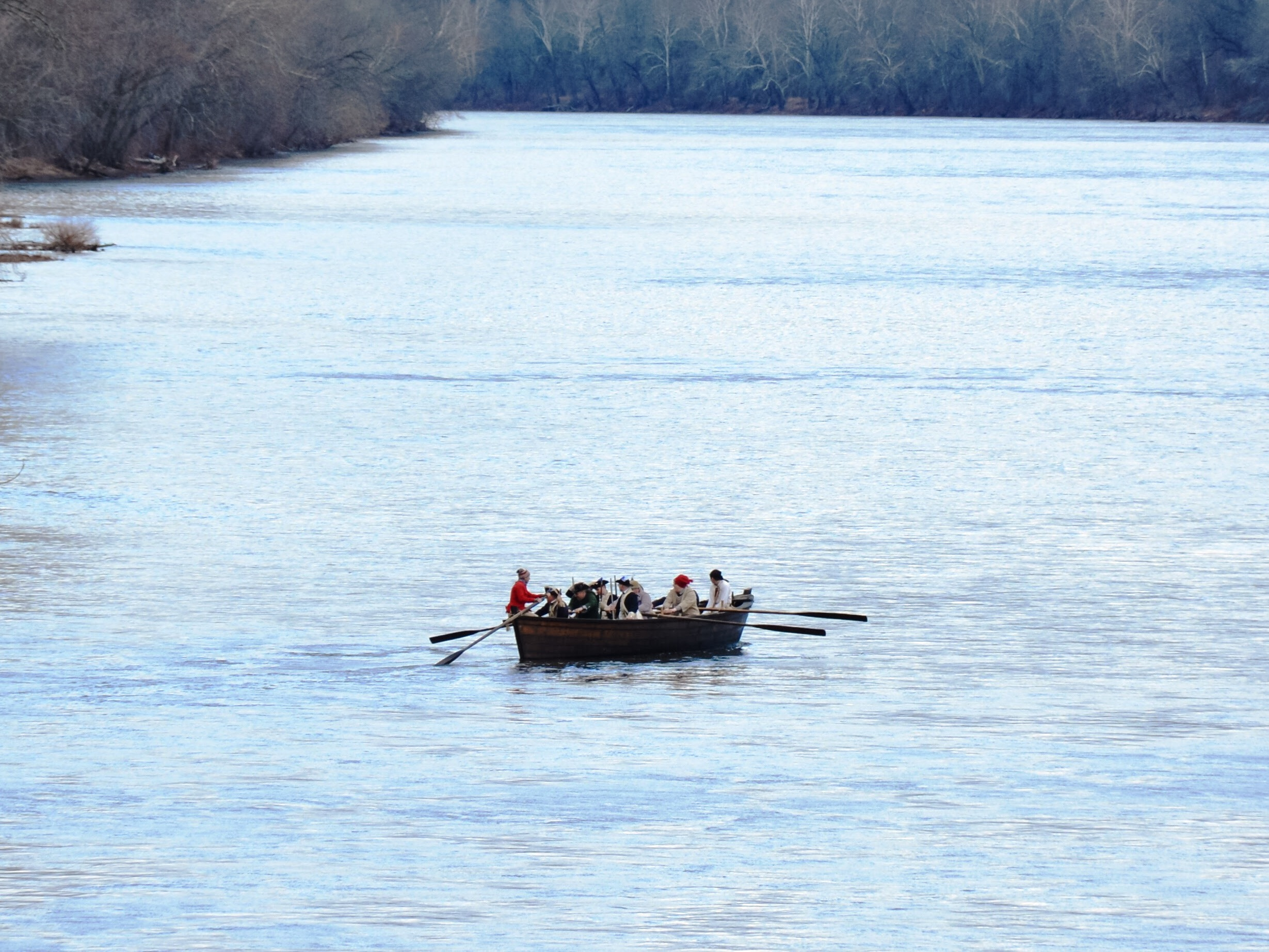 WASHINGTON CROSSING REENACTMENT - See an annual reenactment of George Washington's historic Christmas Day 1776 crossing of the Delaware River