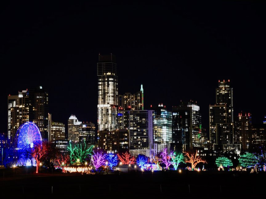 AUSTIN TRAIL OF LIGHTS - Annual Christmas lights display in Zilker Park