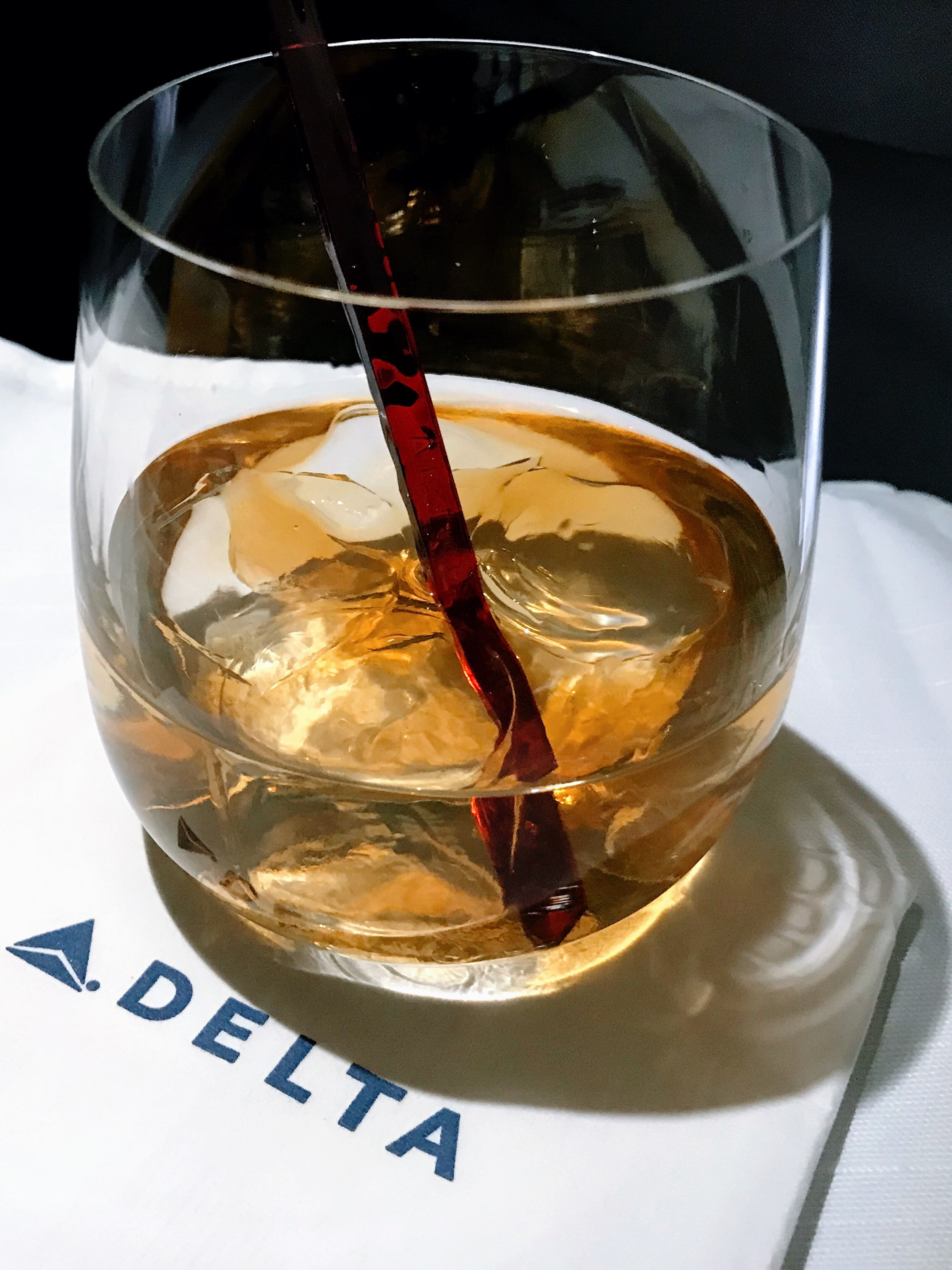 Cabin service began approximately 20 minutes after departure. Delta offers a wide selection of top shelf wines and spirits.