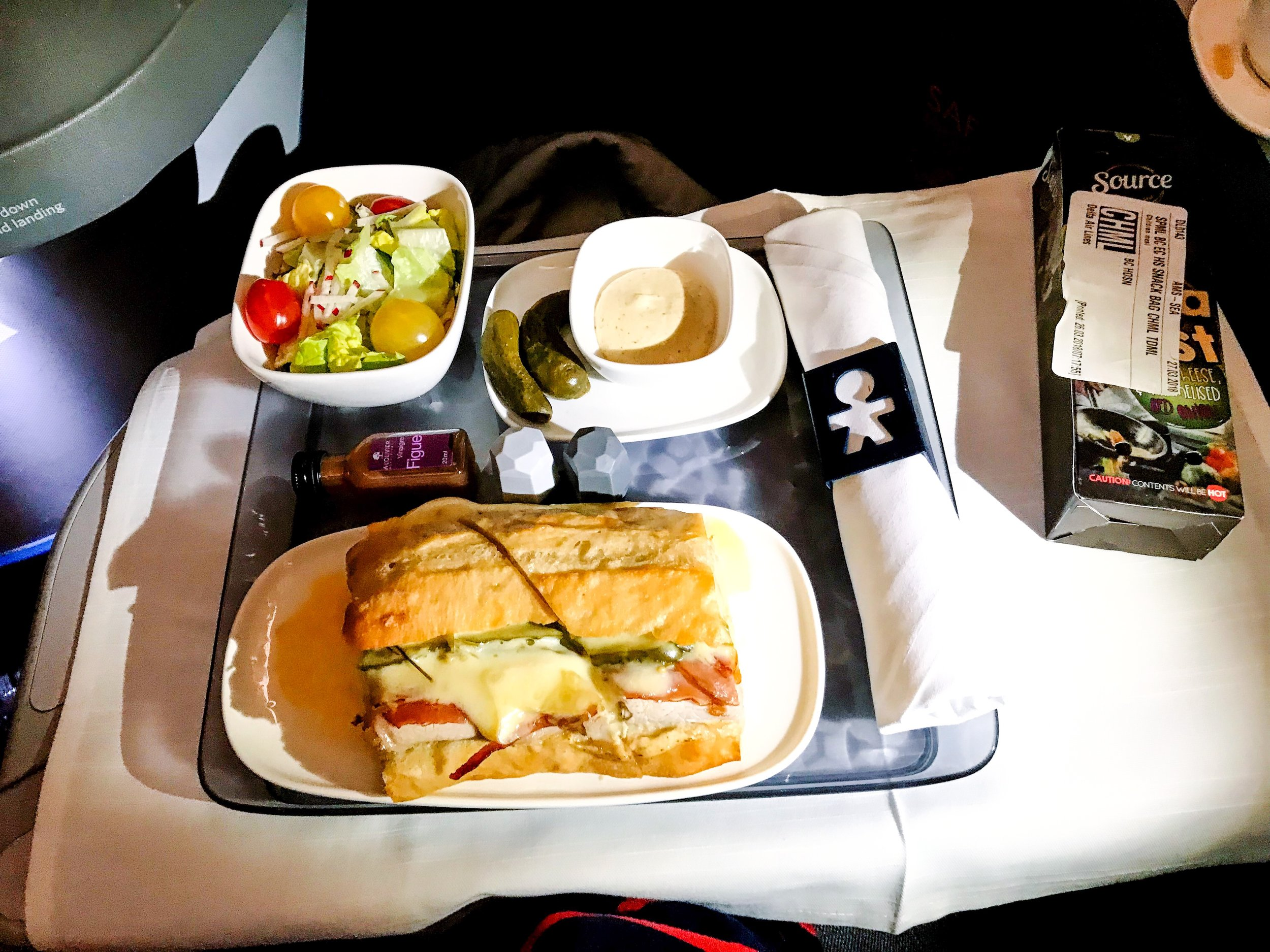 The second meal was more consistent with a domestic First Class meal, but was still very tasty.
