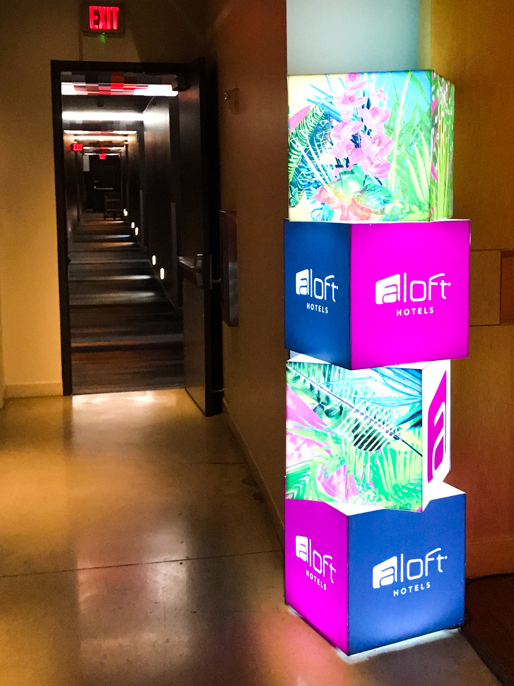 Aloft has a contemporary design style and branding, much like Moxy, another Marriott brand.