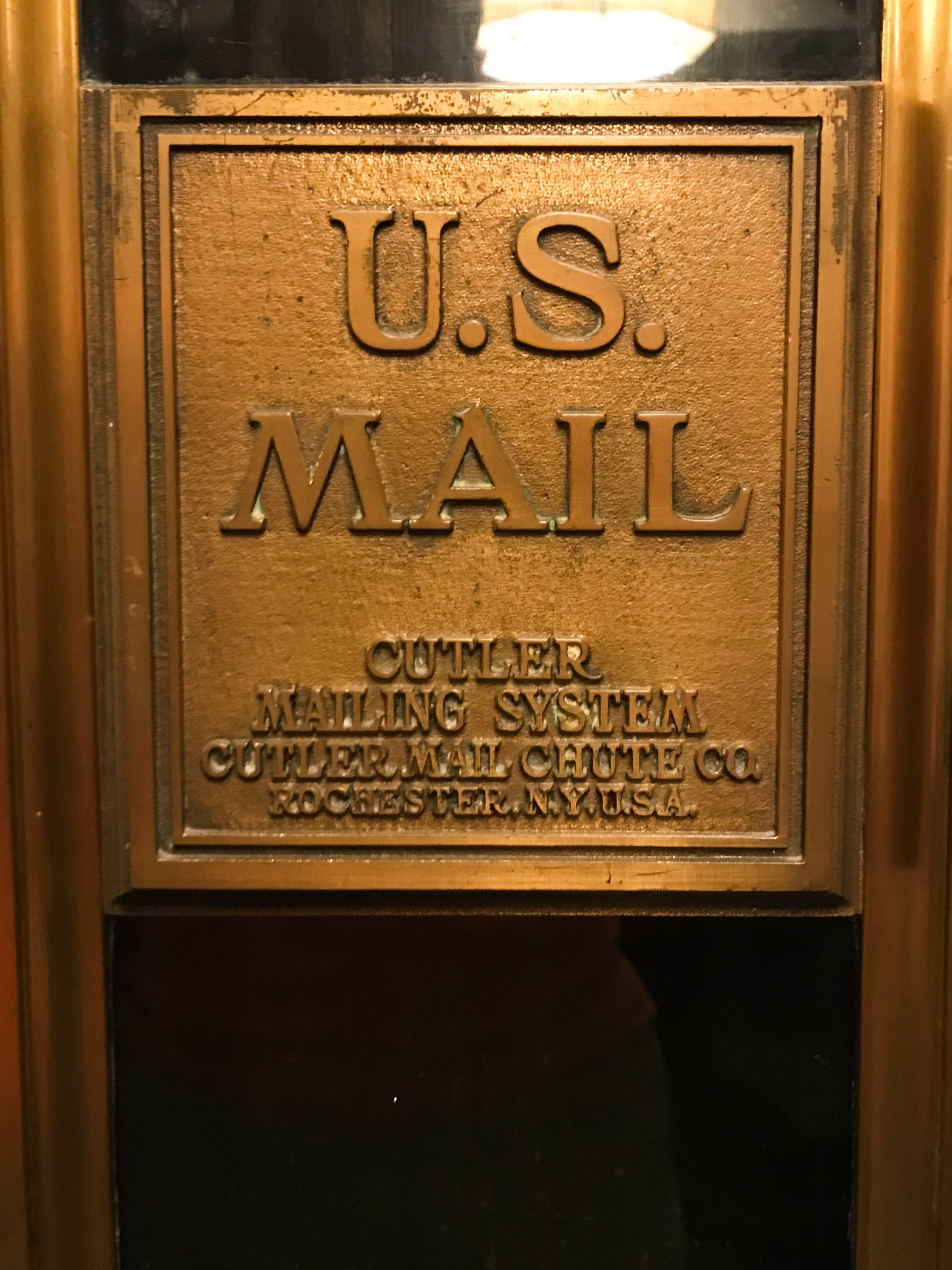 Some of the historic aspects of the hotel included an old mail chute.