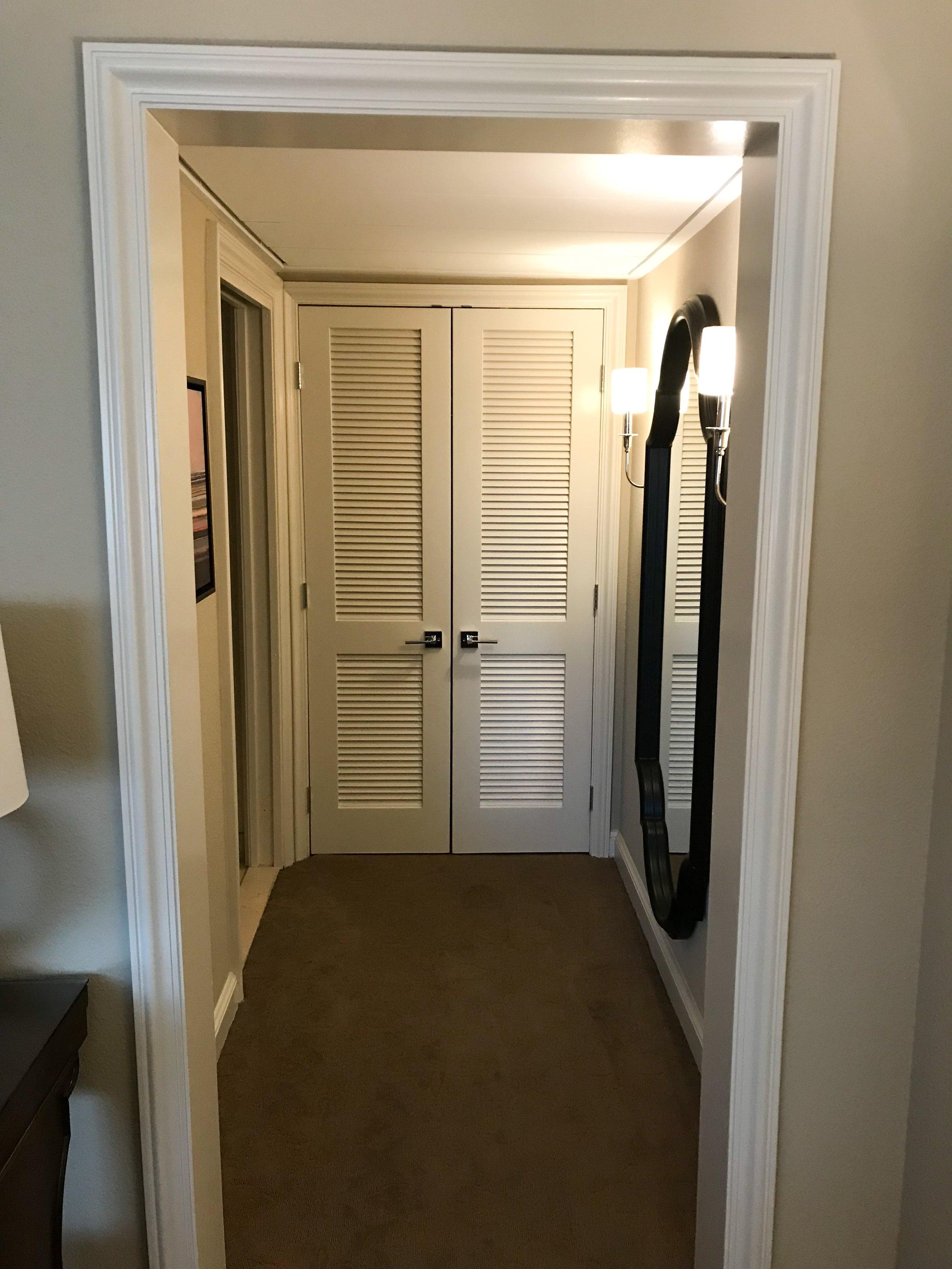 Closet near the bathroom.