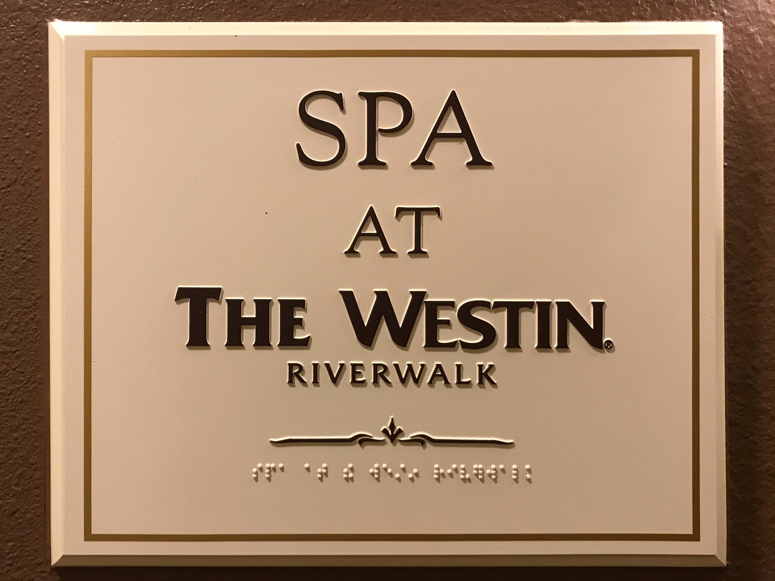 The Spa was on the 4th floor, just next to the pool and workout room, but it was closed for maintenance.