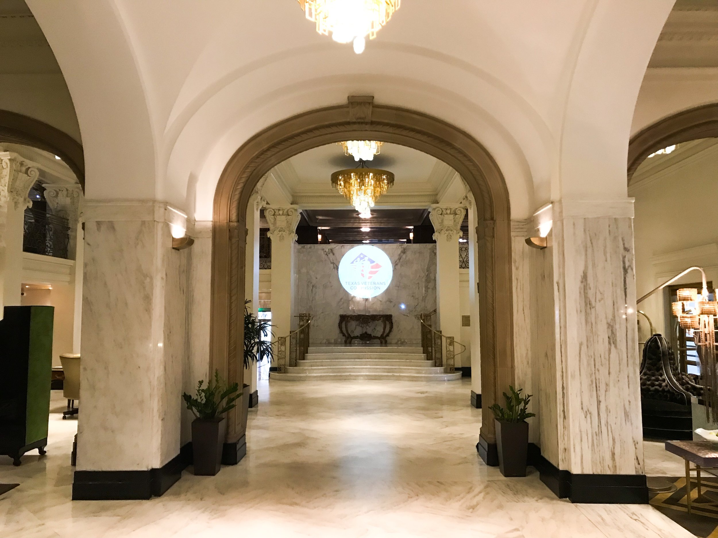 The check-in lobby