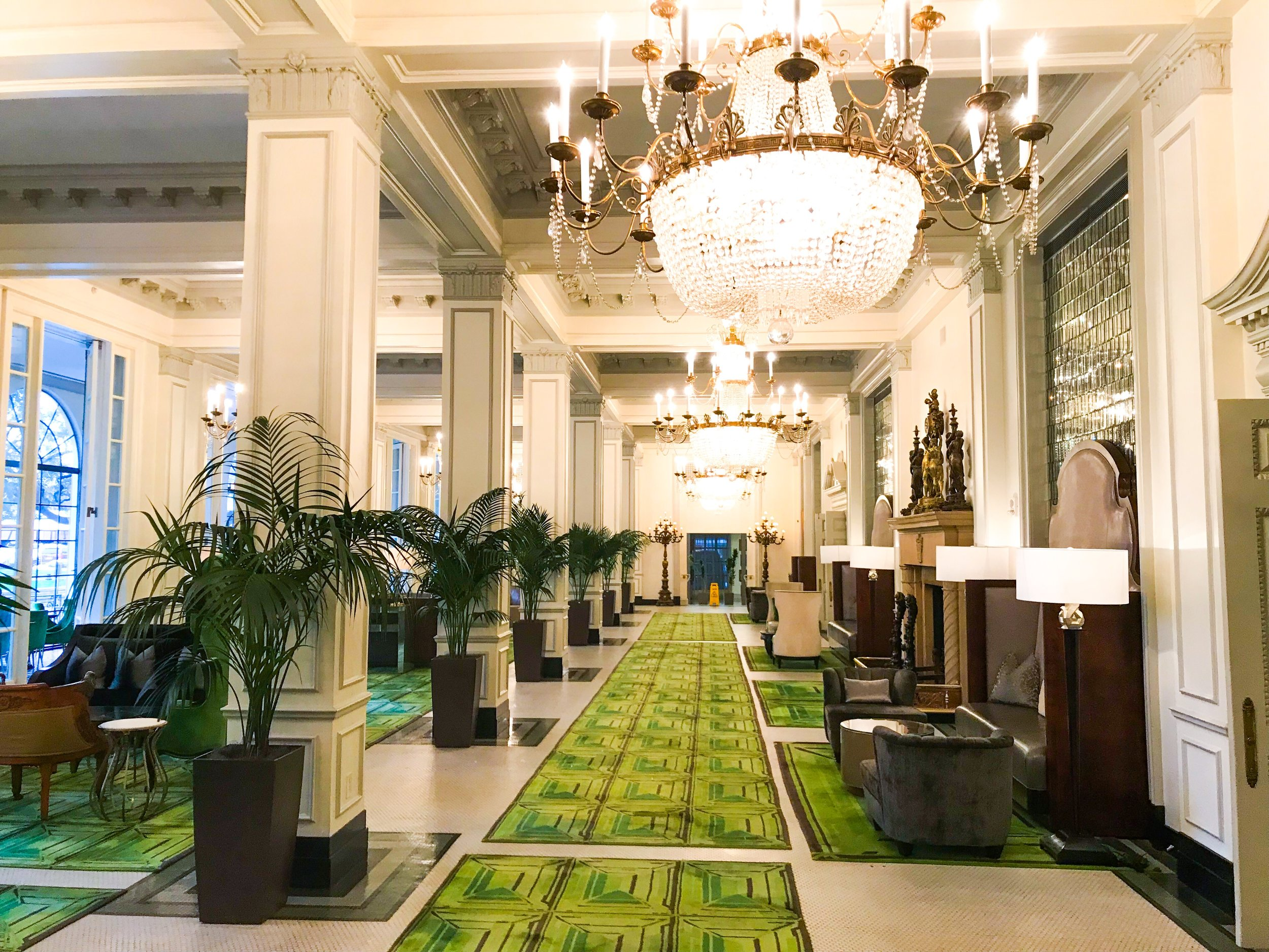 Another view of the luxuriously appointed lobby.