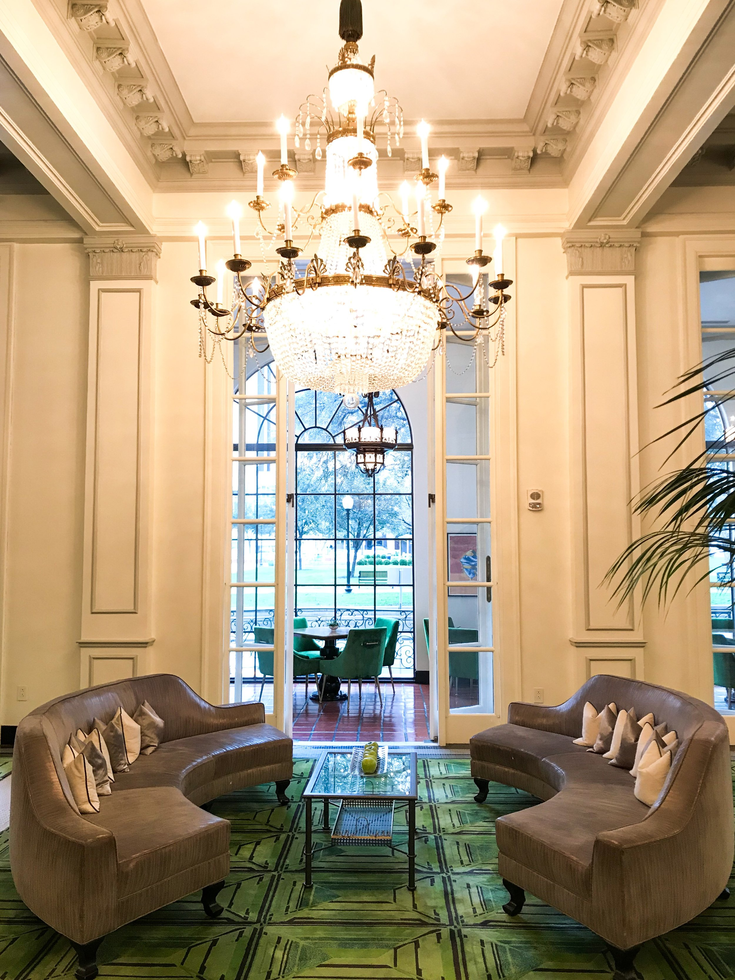 A sitting area in the lobby.