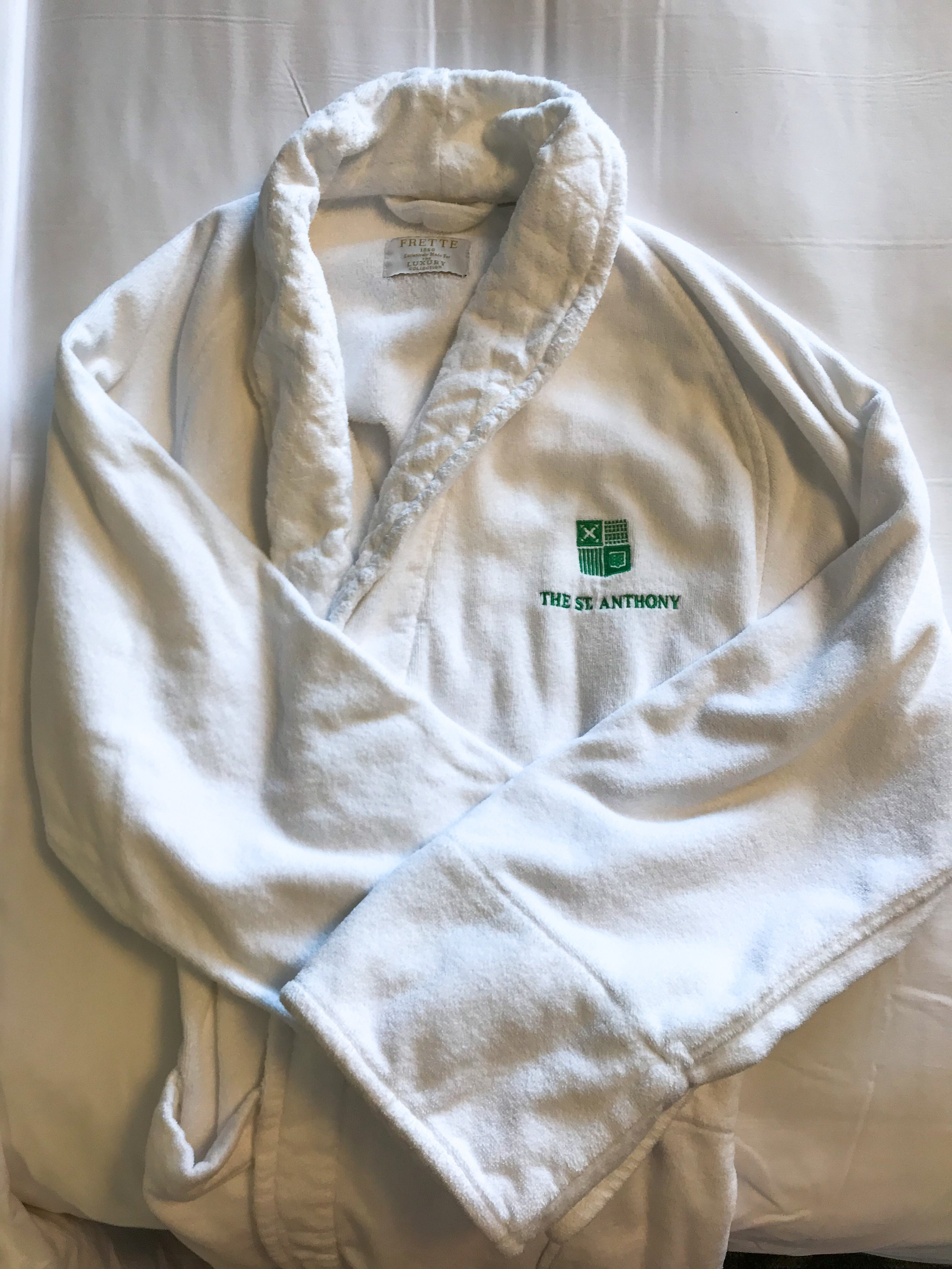 Guests are provided plush bathrobes during their stay.