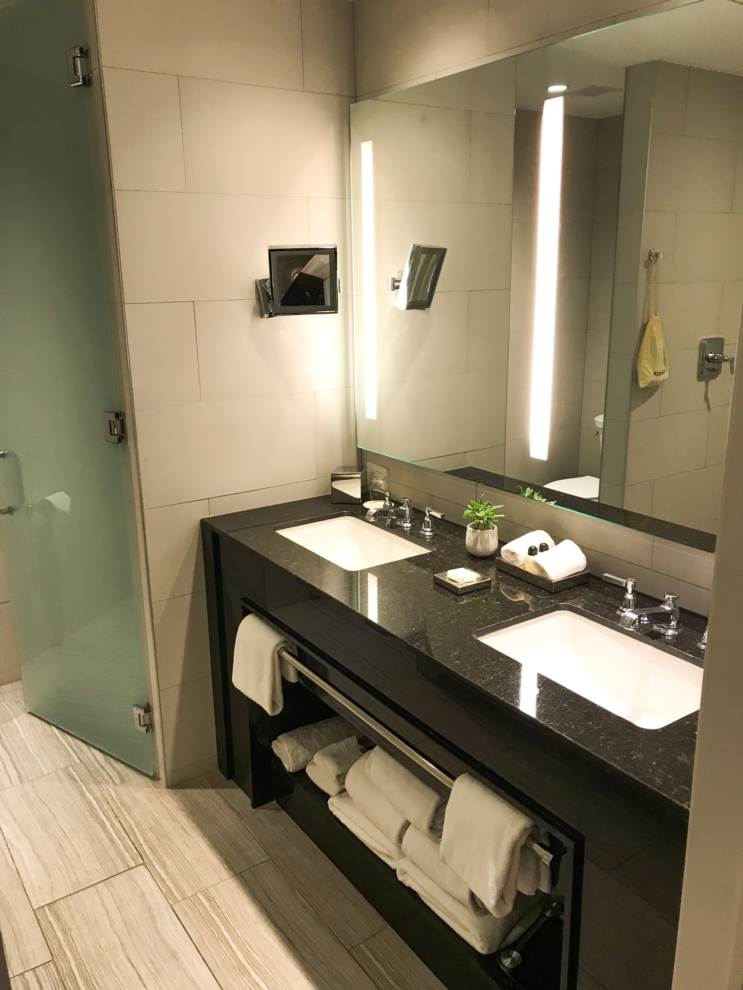 I especially liked the fact there were two sinks and plenty of counter space.