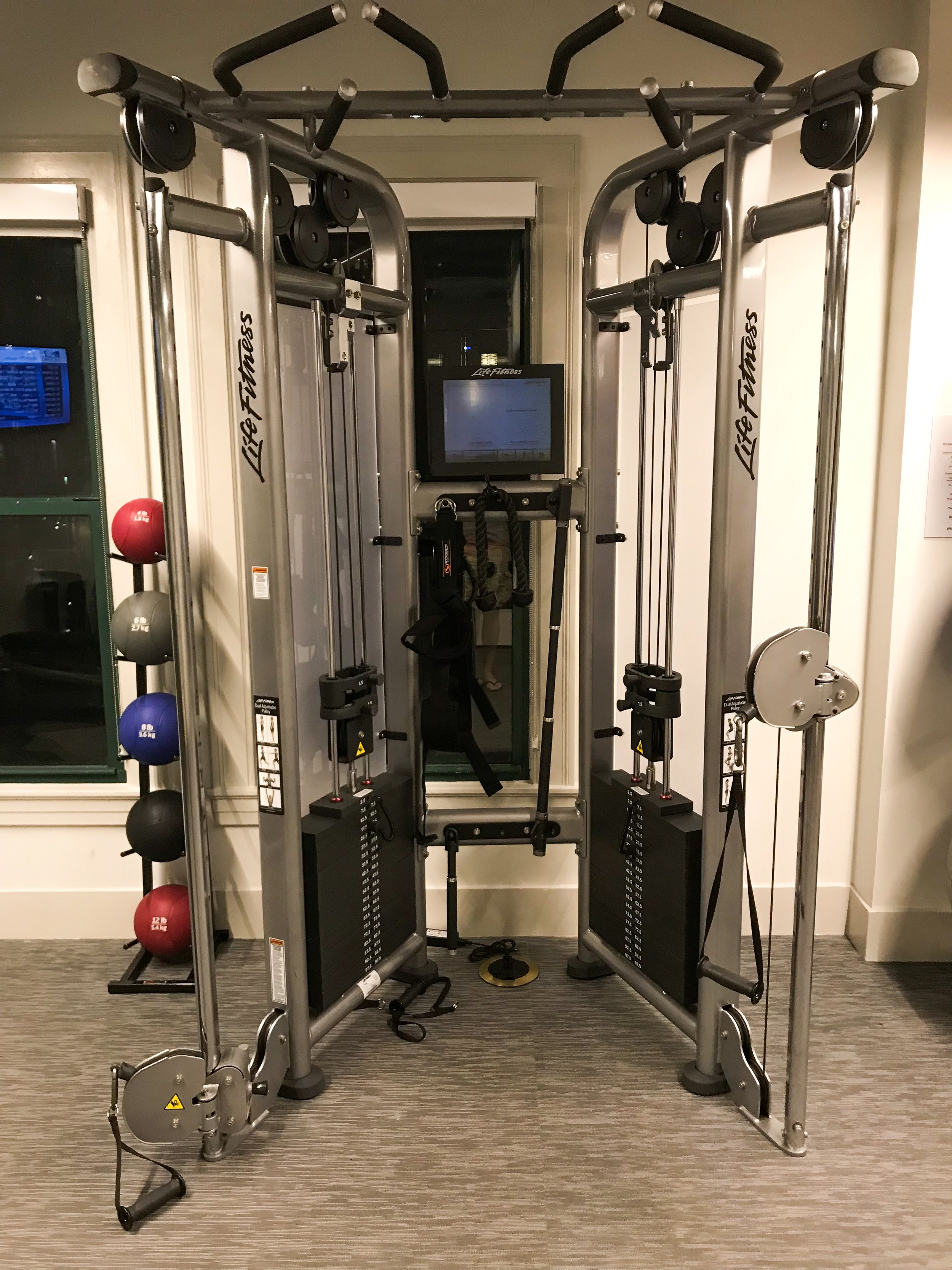 There was also a LifeFitness weight machine.