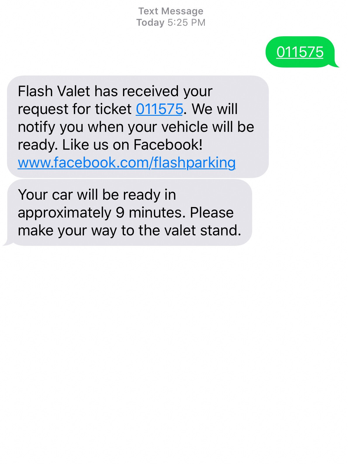 The valet had a text line to hail your car, so you didn't have to wait for it at the valet stand.