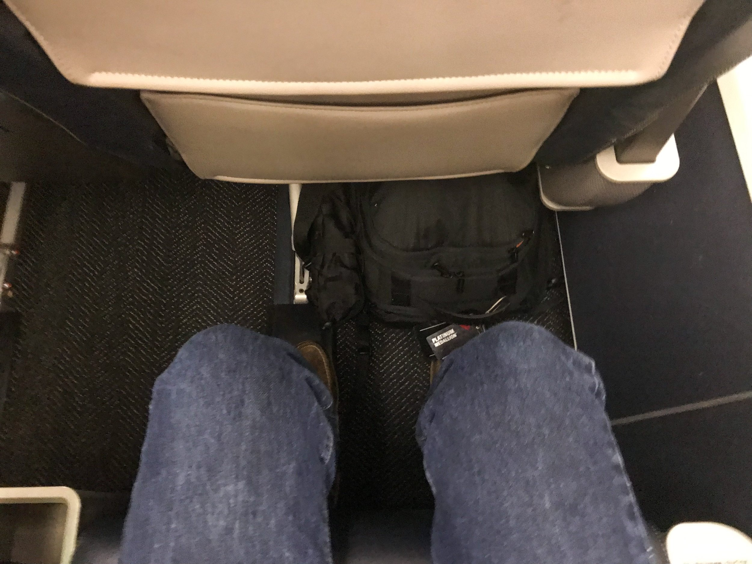 Legroom in Seat 2D.