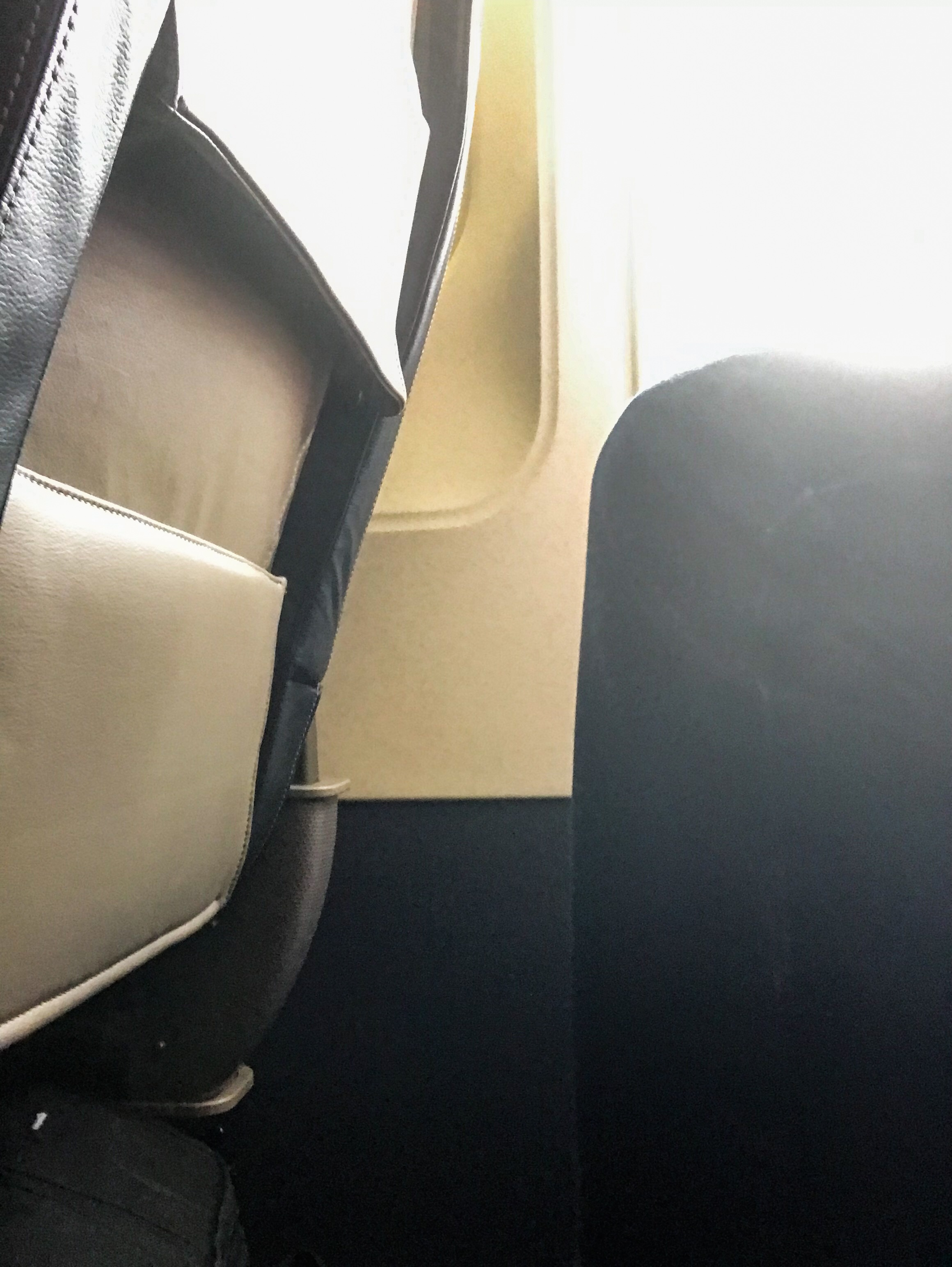 Another angle of the legroom in Seat 2D.