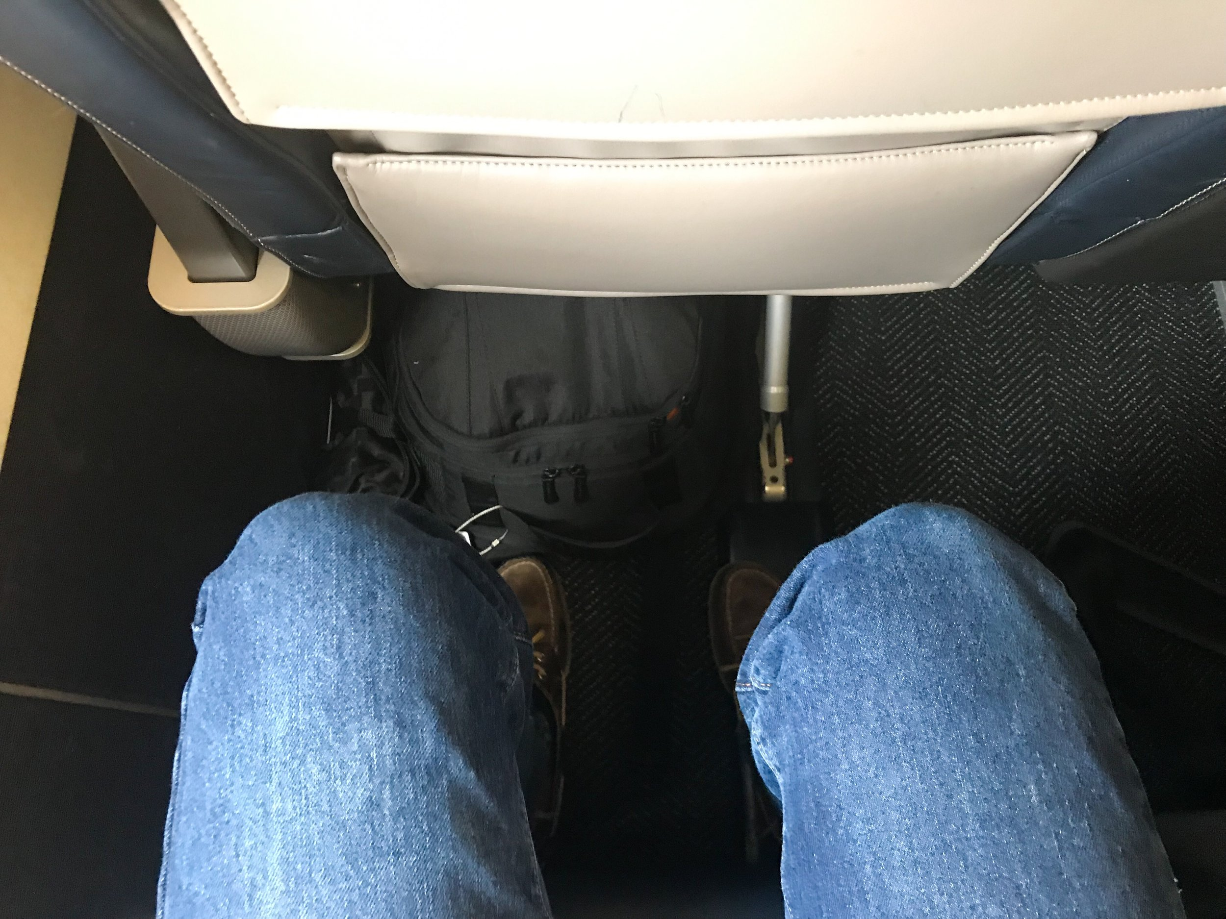 Legroom in Seat 2A.