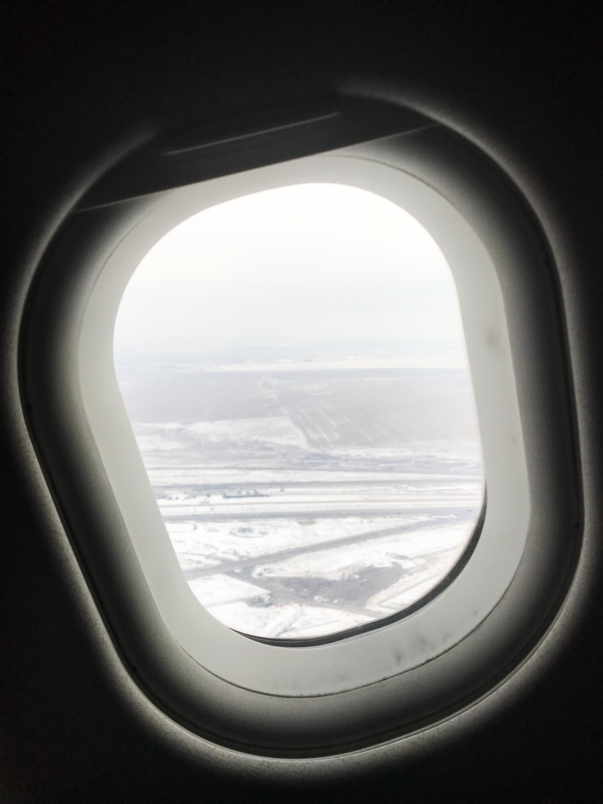 Climbing out of cold and snowy Denver.