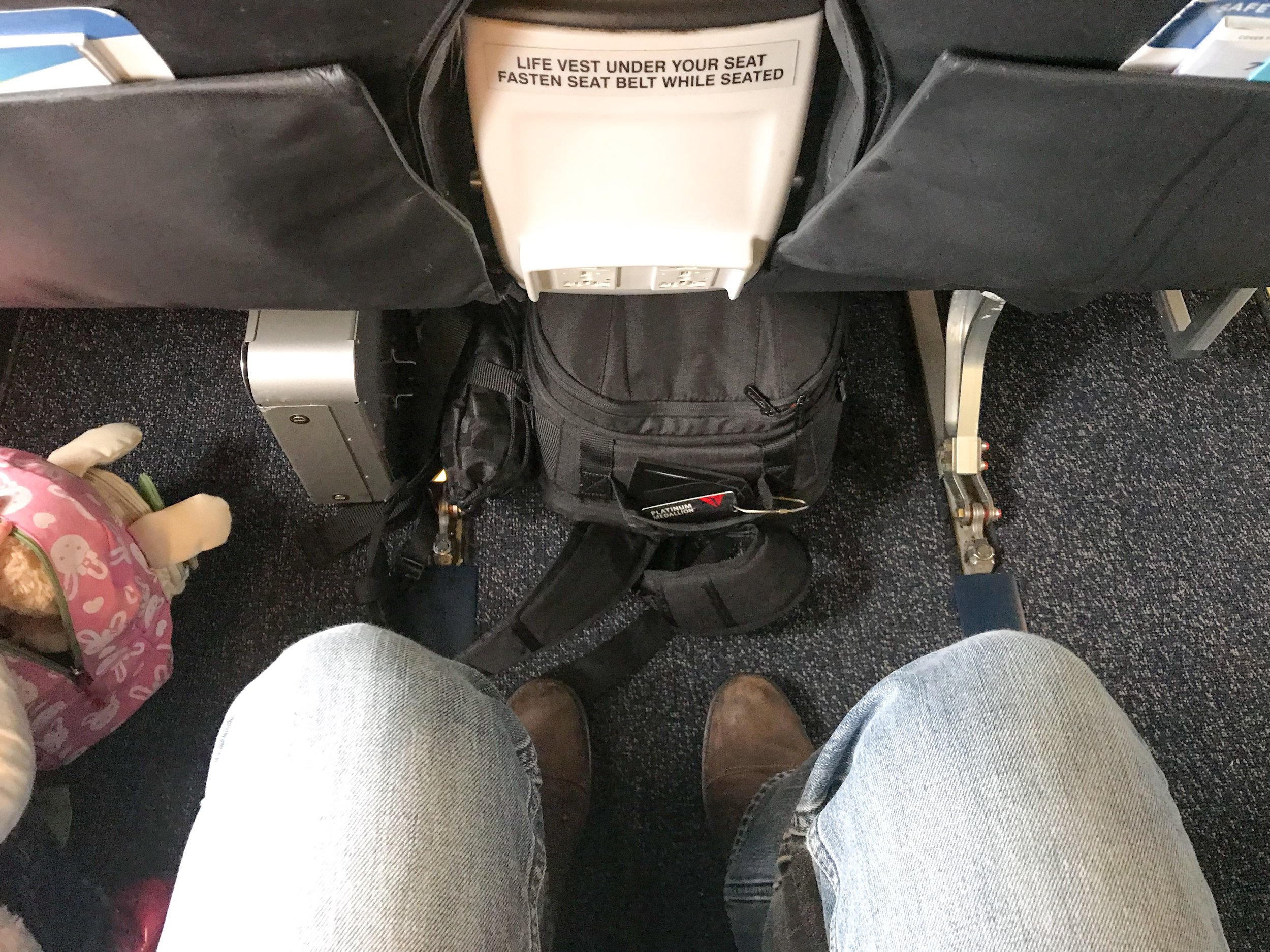 More legroom in Row 6 than any other row on the plane.