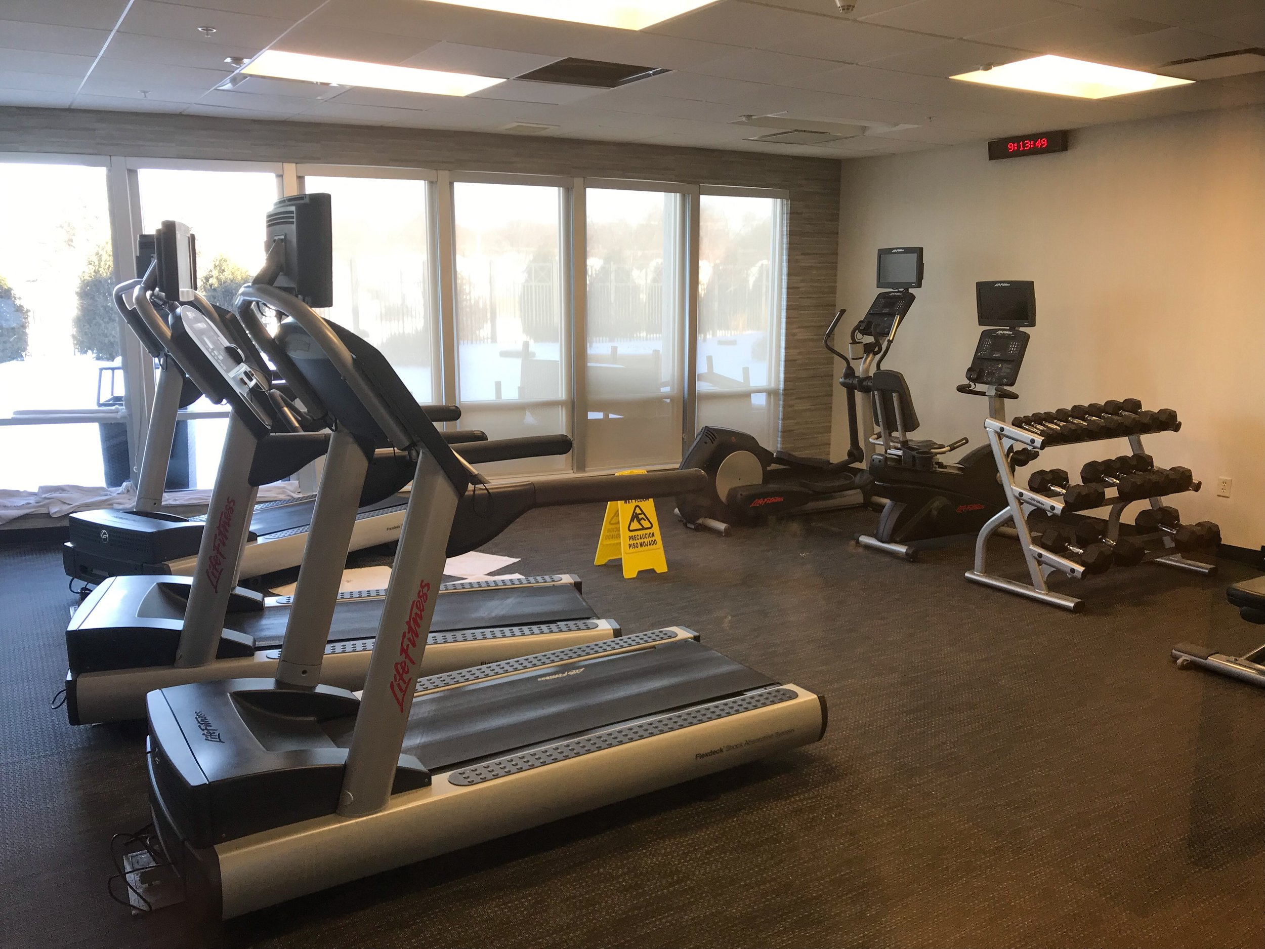 The workout room had. decent selection of equipment, especially considering it was freezing cold outside during my stay.