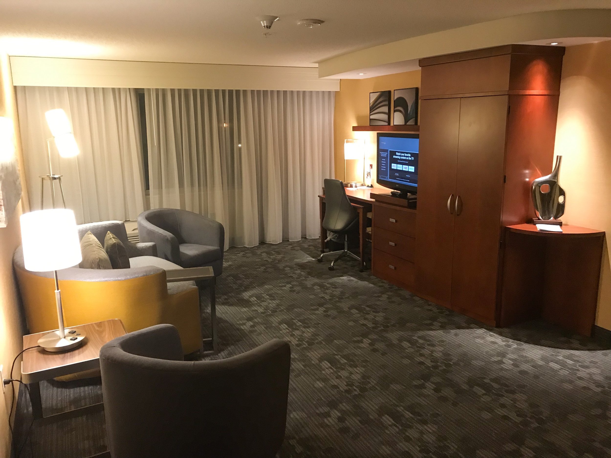 The living room area of the King Suite.