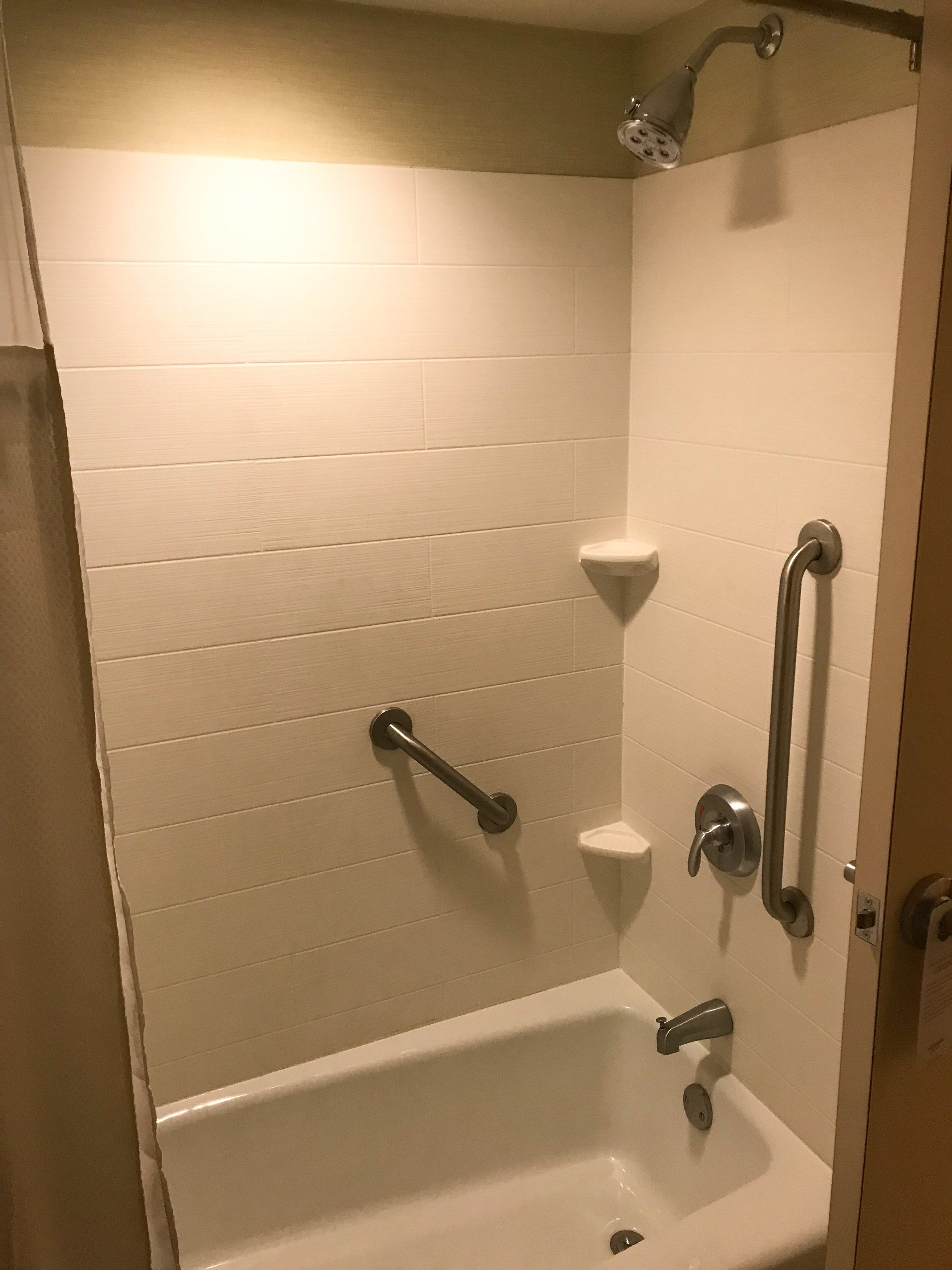 There was a bathtub/shower combination.