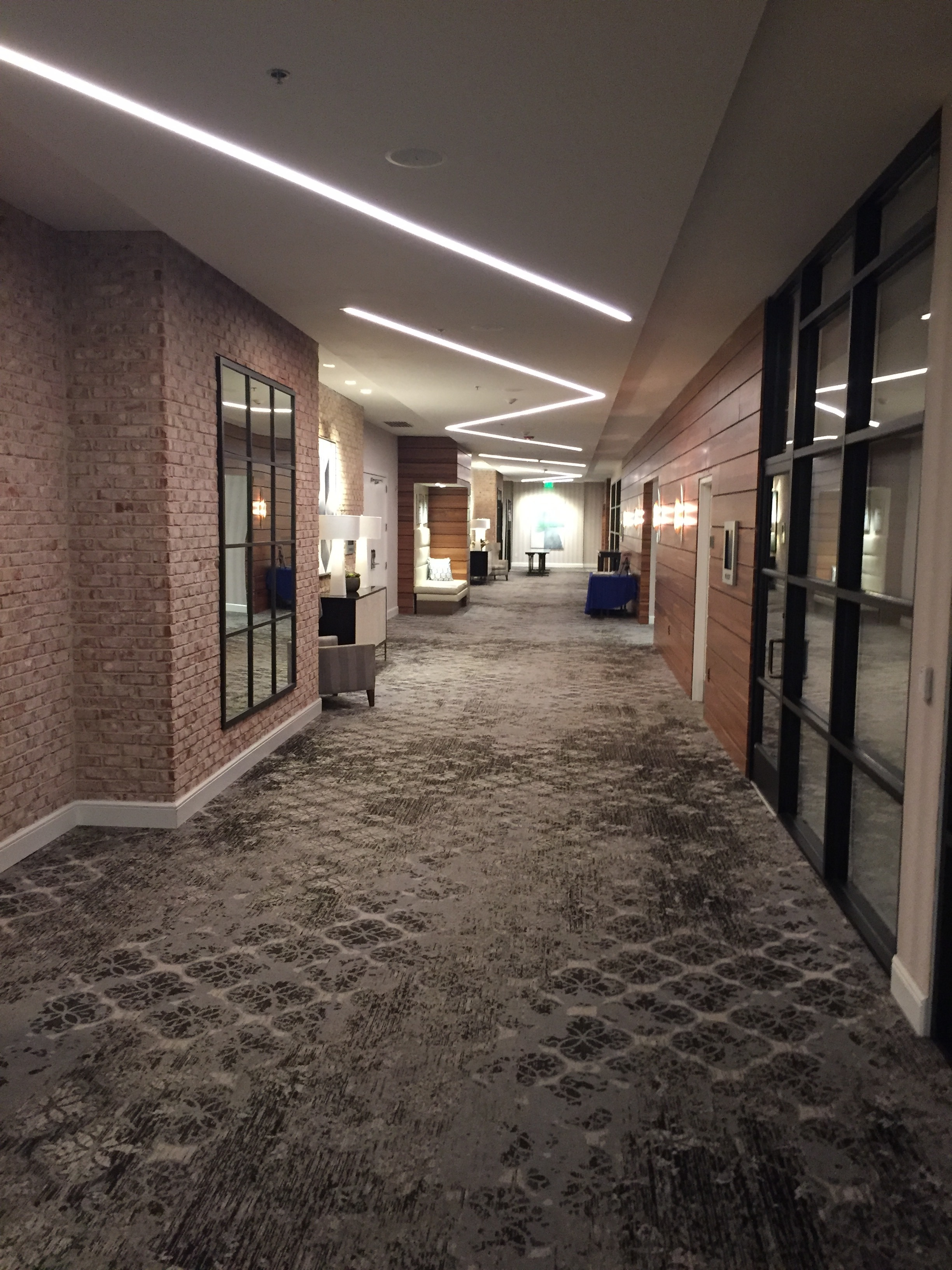 Past the elevator lobby is the meeting and conference room wing.