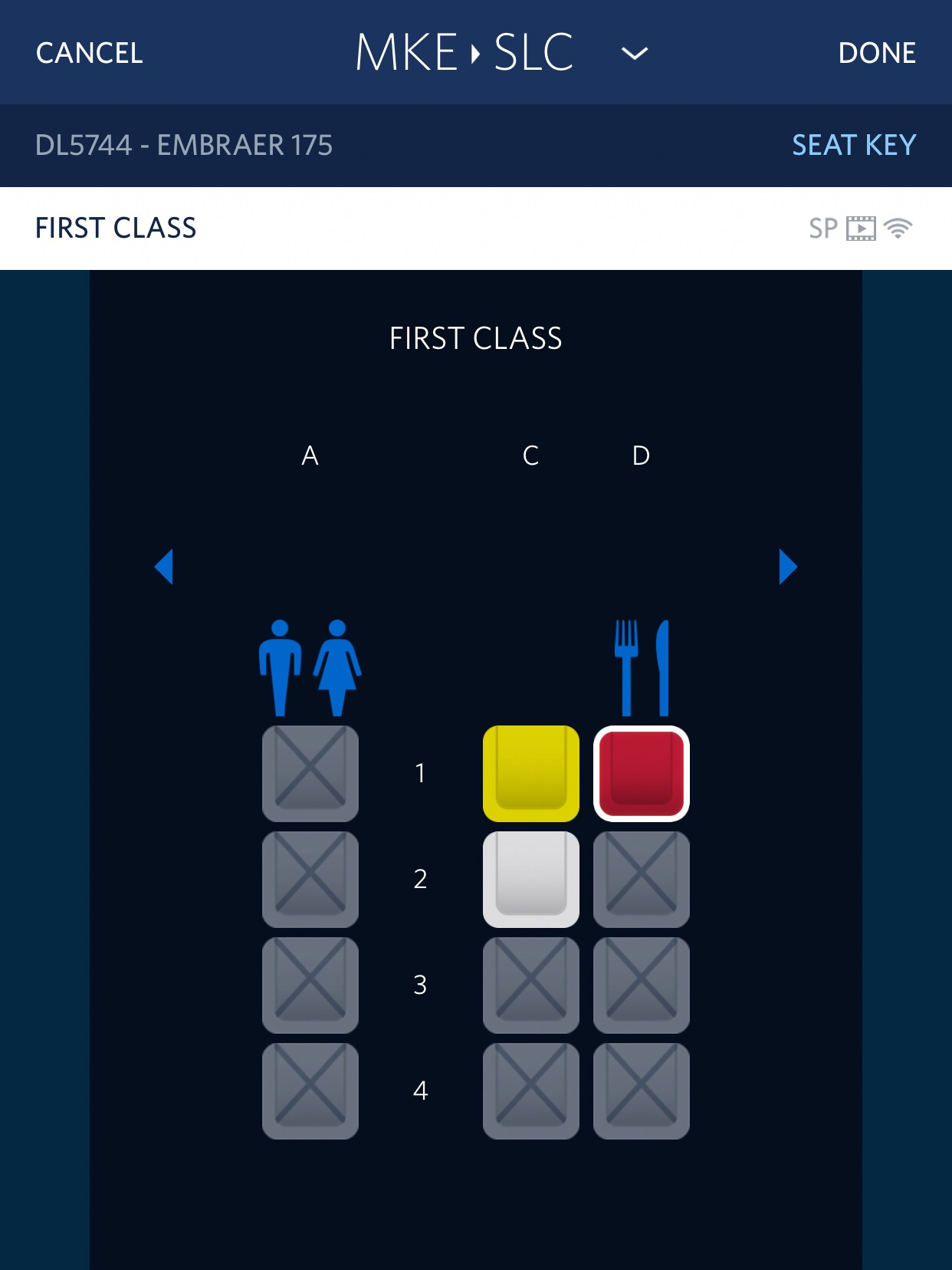 Delta's seat selection is extremely easy in the App. It doesn't redirect you to the website like some airline apps do. My daughter and I were upgraded at the beginning of the Gold Medallion upgrade window 72 hours prior to departure.