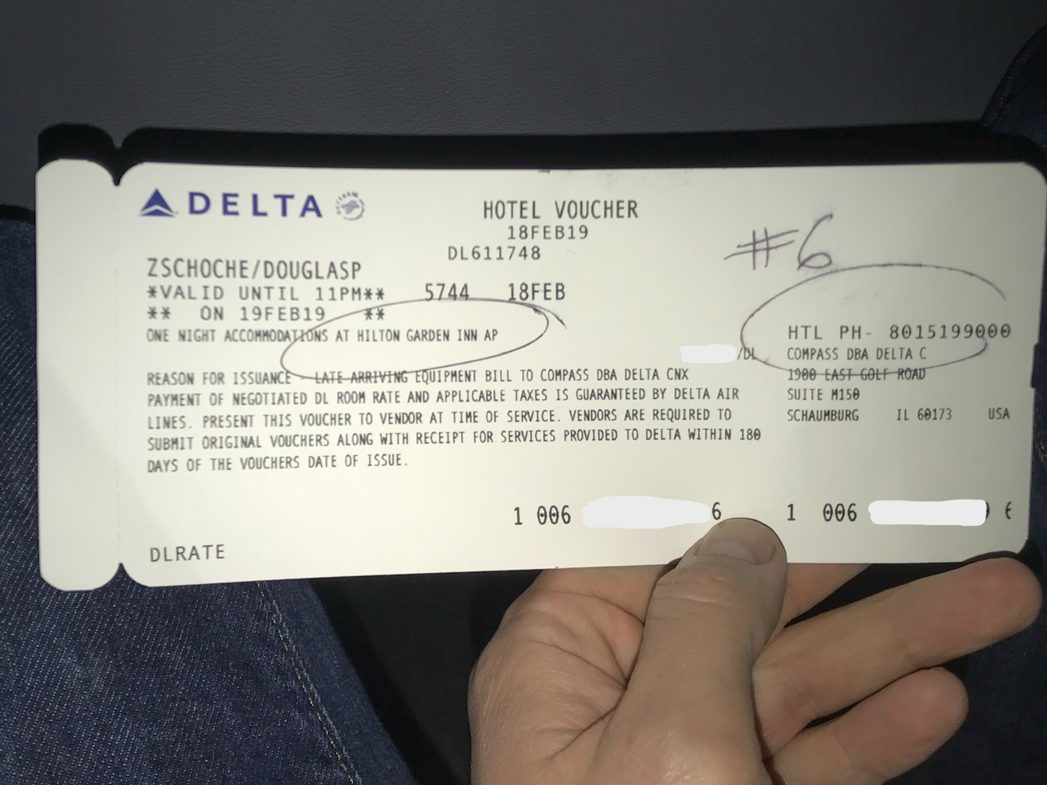 If you miss a connection (due to non-weather related delays) and are forced to stay the night at a location other than your final destination, Delta will cover the cost of a hotel. Proceed to a Delta help desk and they will provide you with a hotel voucher. The last time this happened to me, I was on the hotel shuttle within 15 minutes of stepping off my flight.