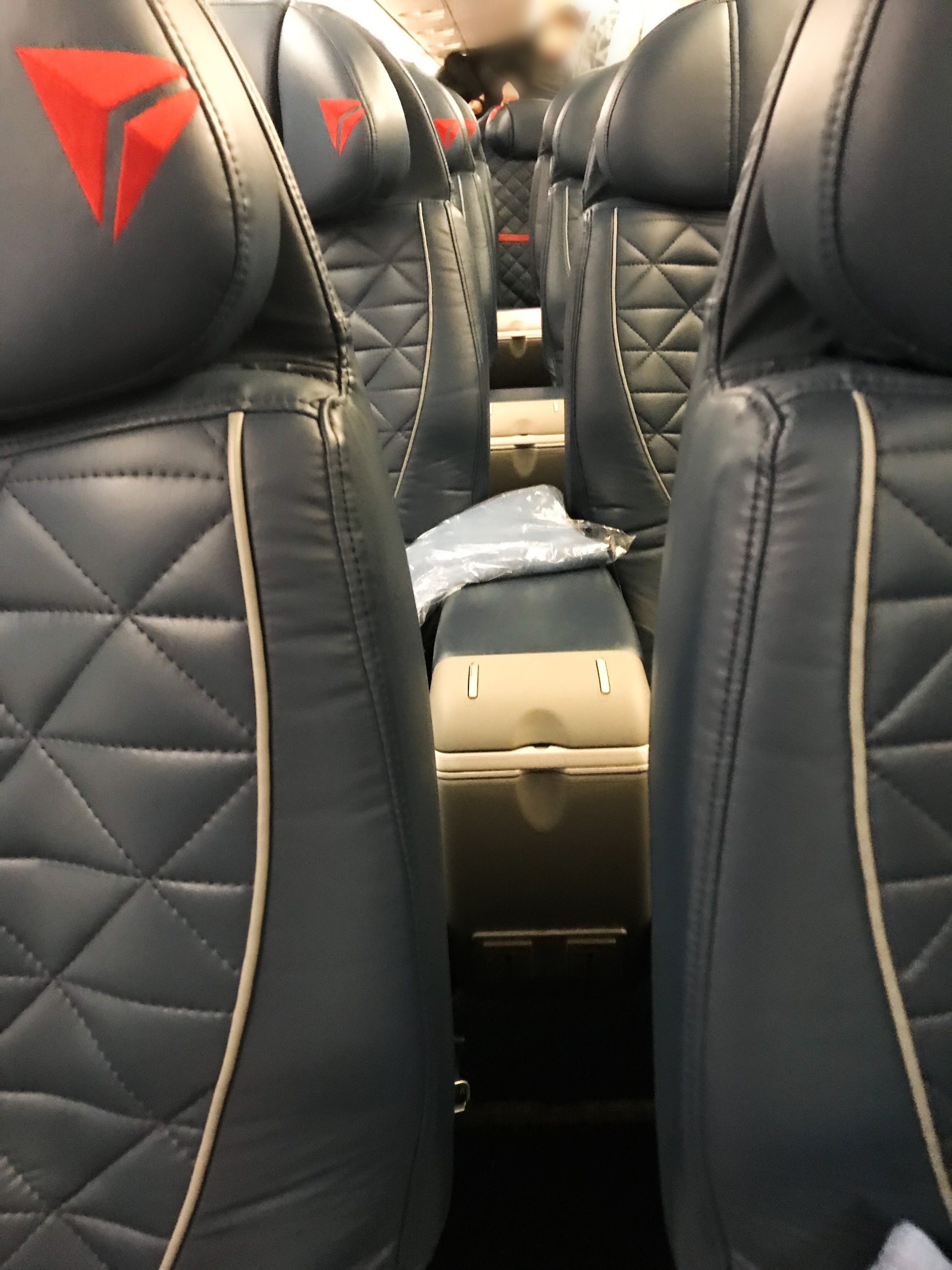 Even though the ERJ-175 is a regional jet, the First Class seats are comparable in size and comfort to Delta's mainline fleet.