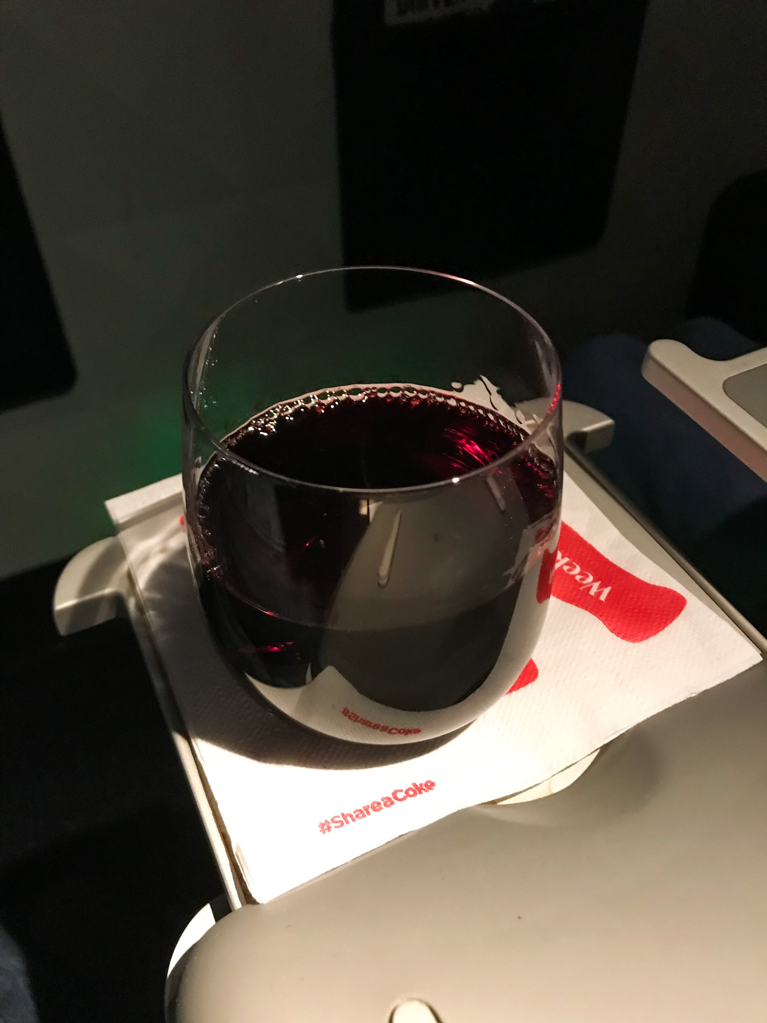 Delta serves pre-dinner drinks soon after takeoff. The flight attendants came around several times after dinner as well asking if I wanted anything else. The ERJ-175 features a small pull-out table if you don't want to use the in-seat tray table.