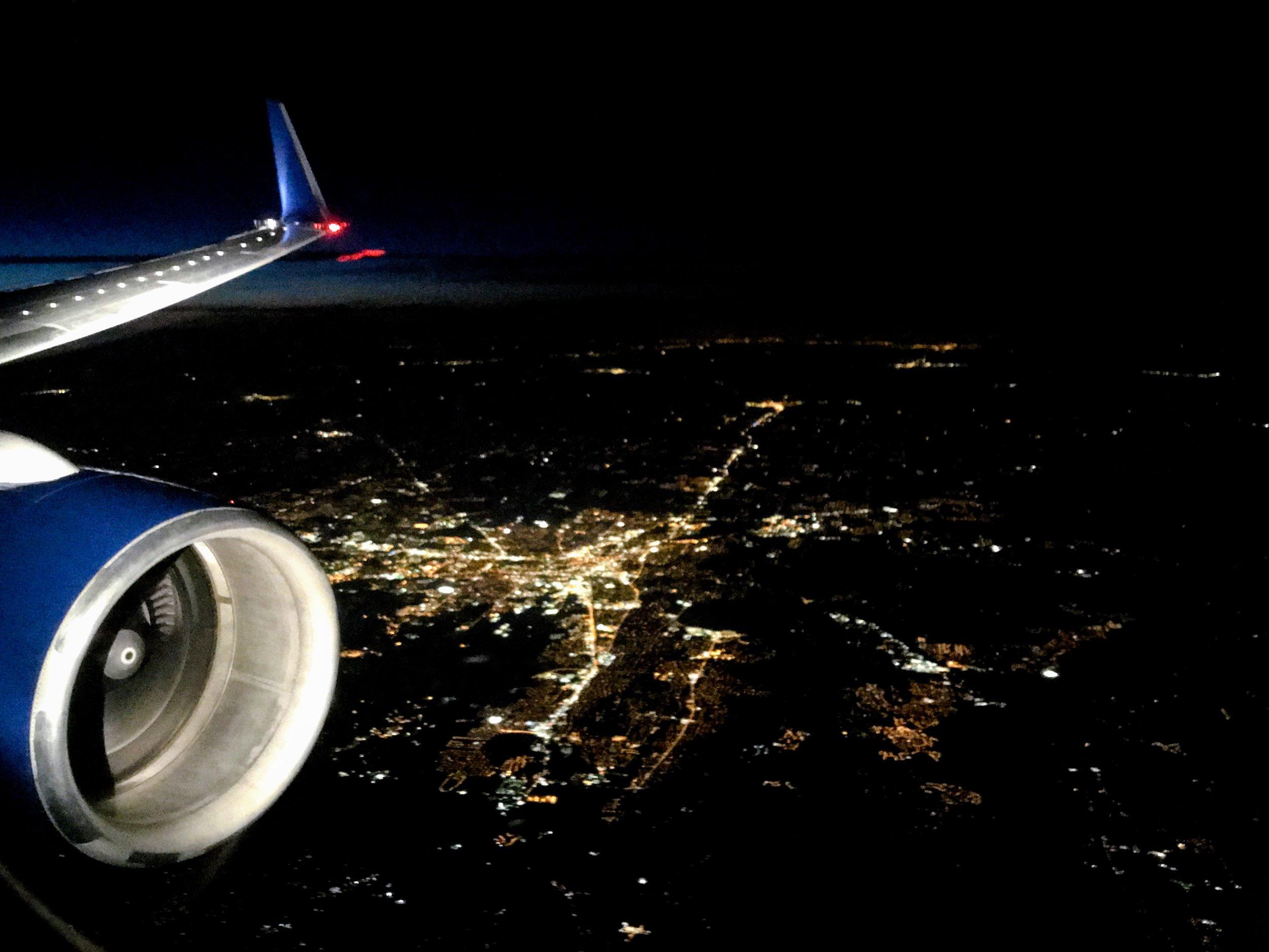 Descending into Atlanta.