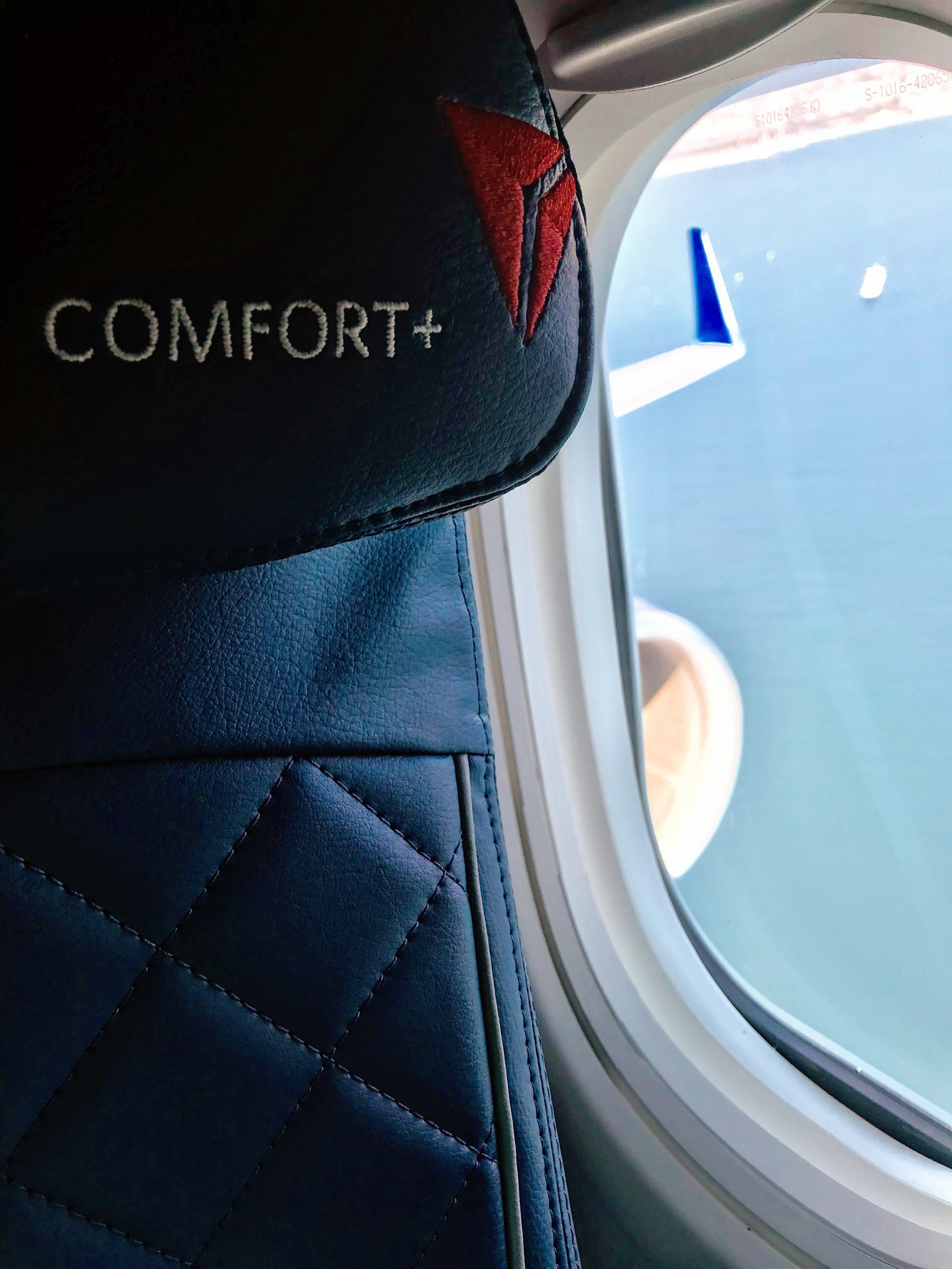Comfort+ seats on the 75D feature adjustable headrests.