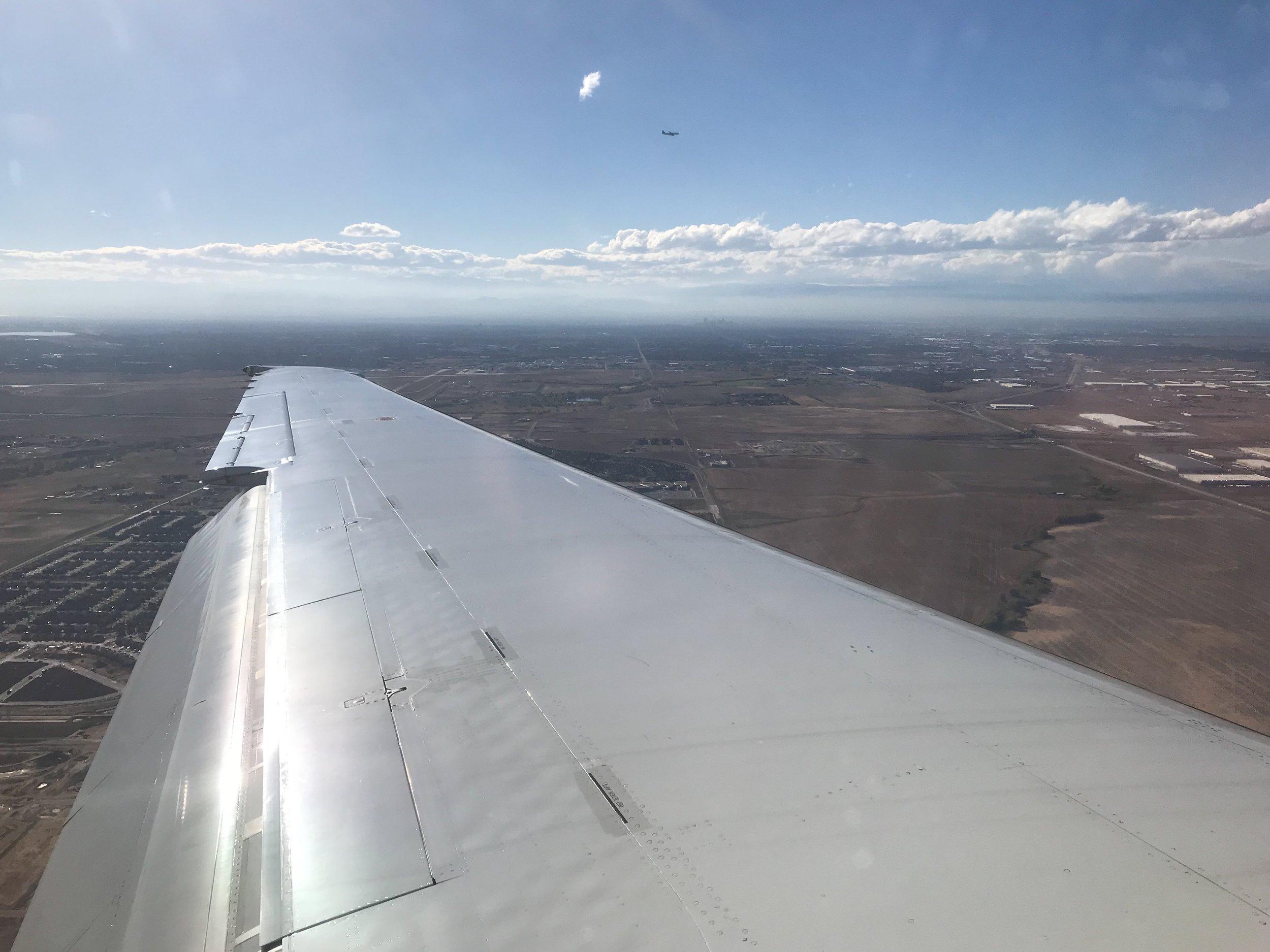 Landing in Denver.